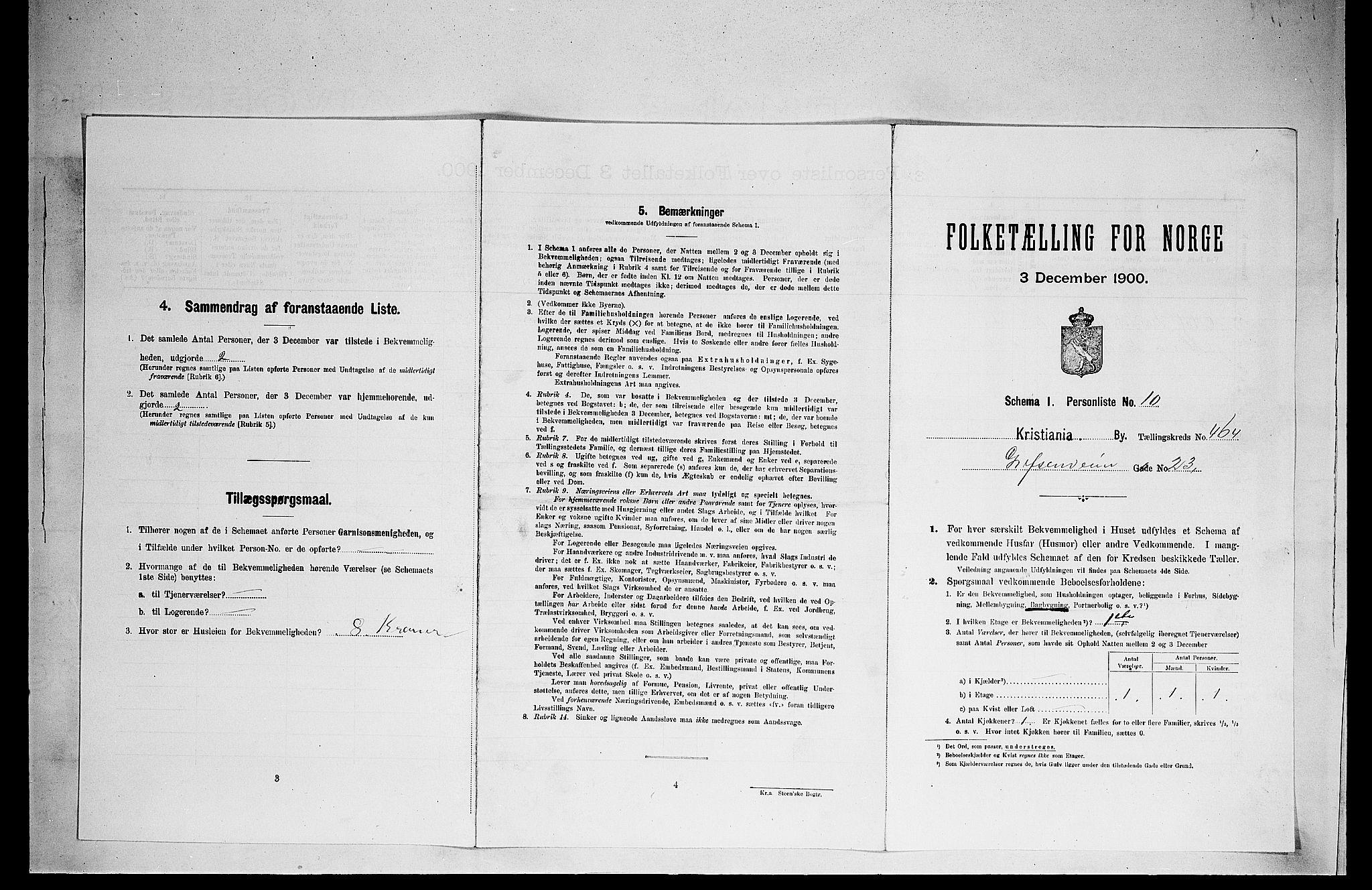 SAO, Folketelling 1900 for 0301 Kristiania kjøpstad, 1900, s. 27893