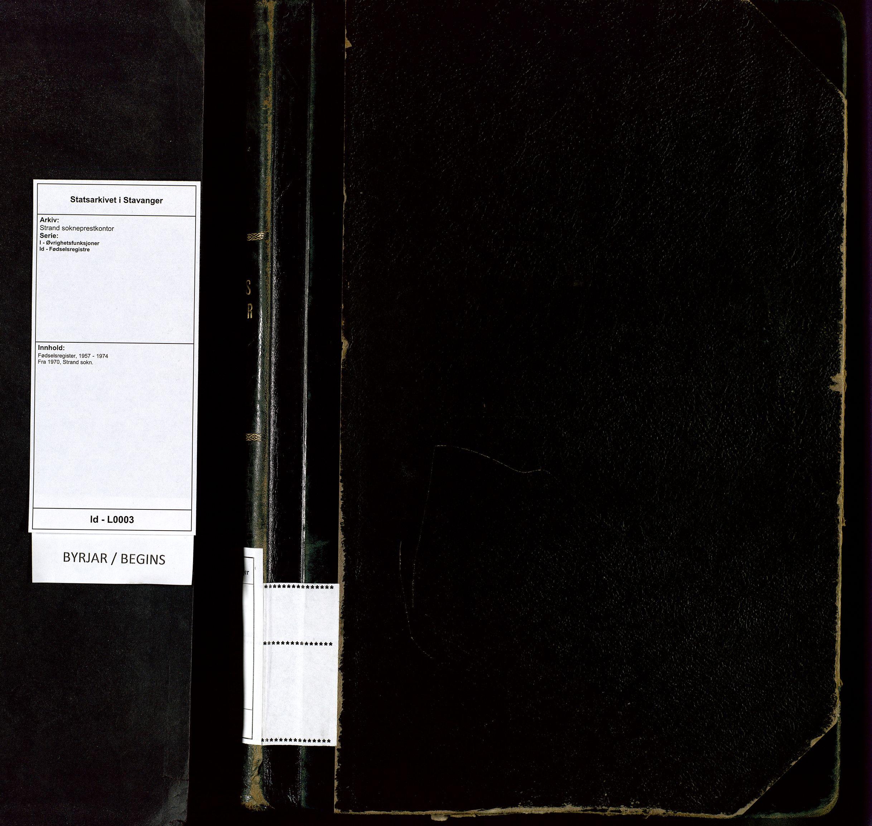 SAST, Strand sokneprestkontor, I/Id/L0003: Fødselsregister nr. 3, 1957-1974