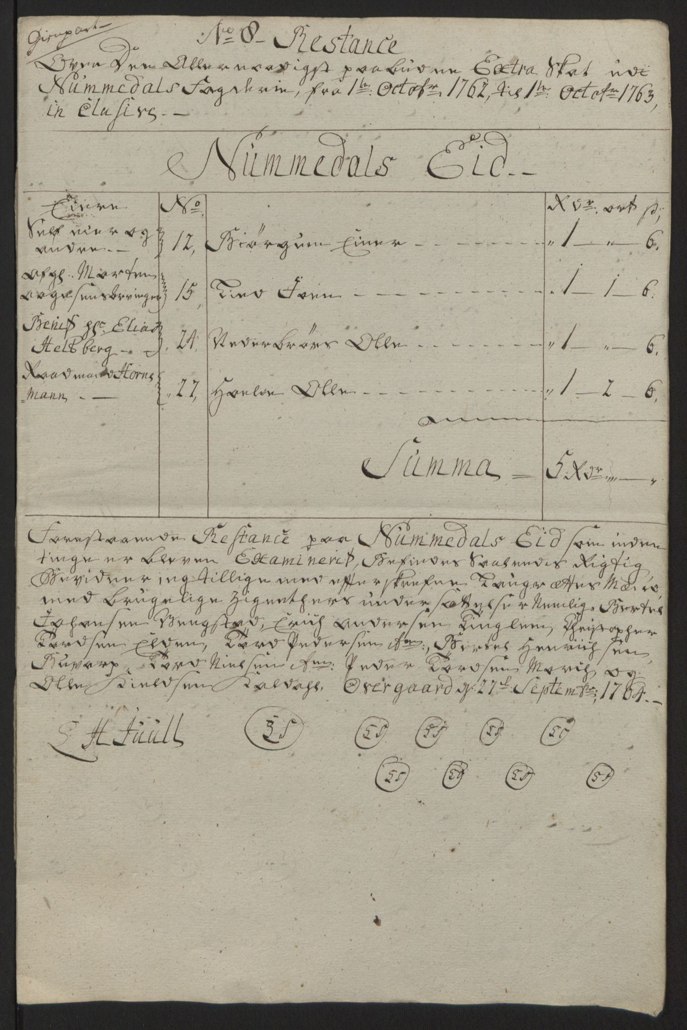RA, Rentekammeret inntil 1814, Reviderte regnskaper, Fogderegnskap, R64/L4502: Ekstraskatten Namdal, 1762-1772, s. 173
