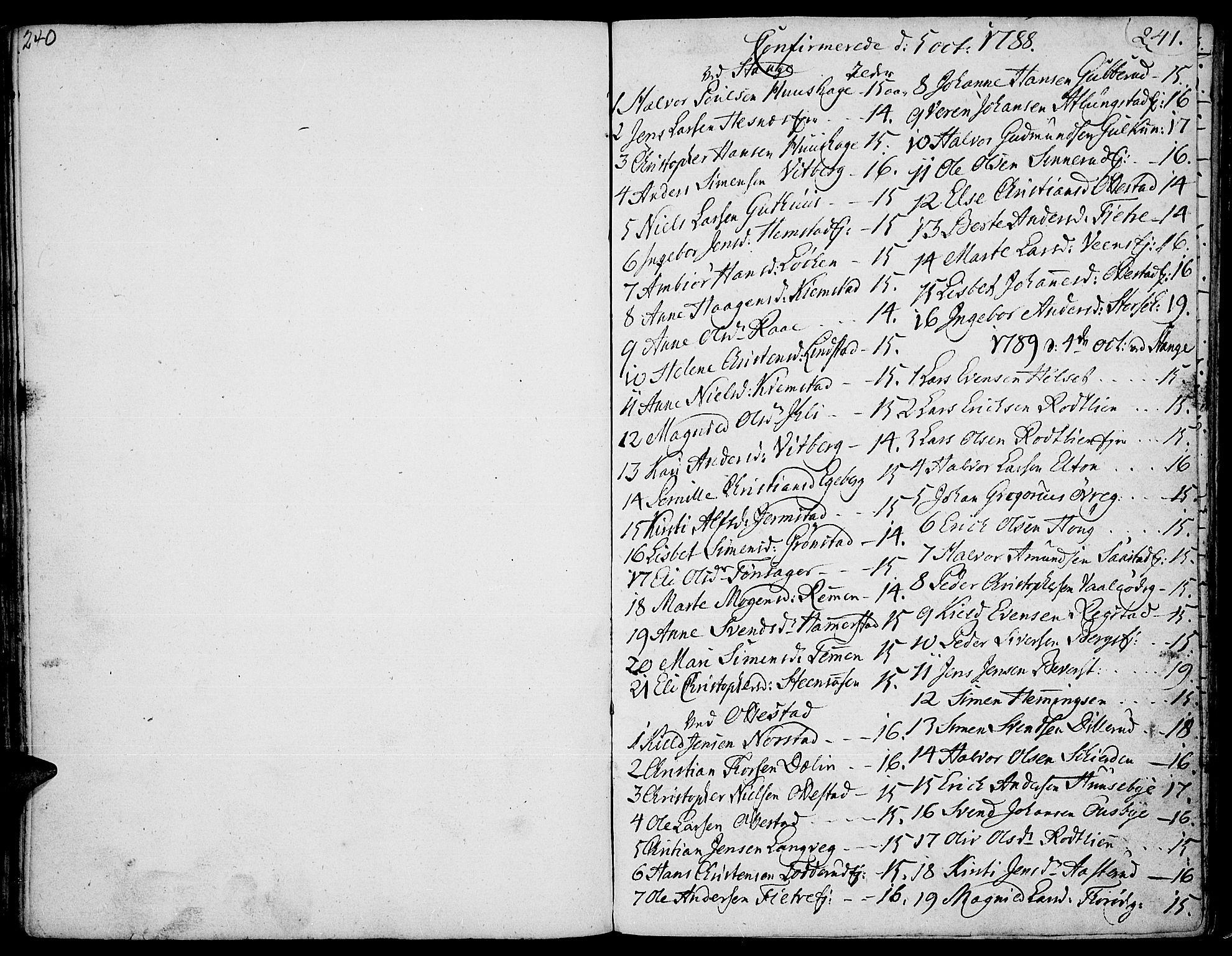 SAH, Stange prestekontor, K/L0007: Ministerialbok nr. 7, 1788-1813, s. 240-241