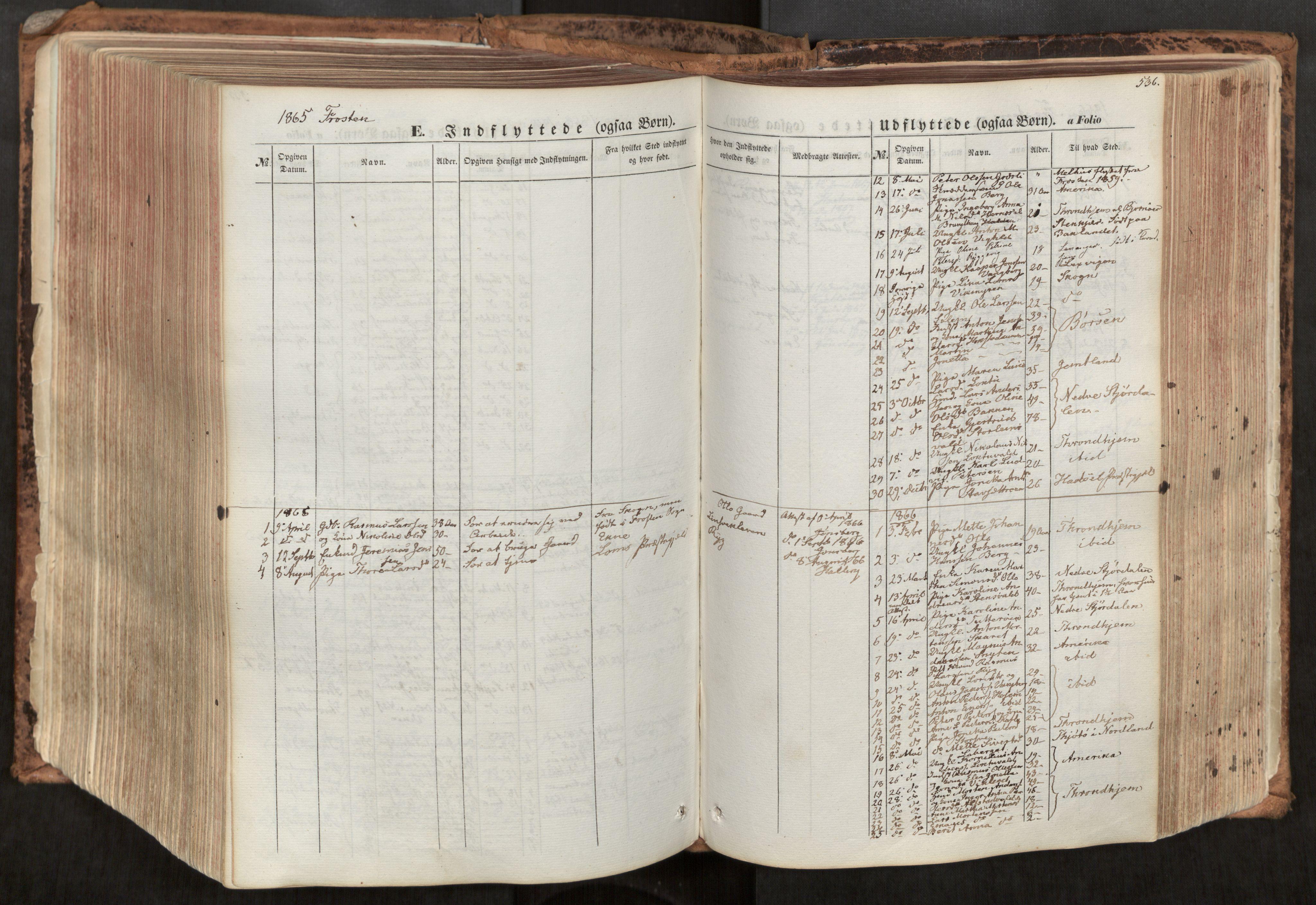 SAT, Ministerialprotokoller, klokkerbøker og fødselsregistre - Nord-Trøndelag, 713/L0116: Ministerialbok nr. 713A07, 1850-1877, s. 536
