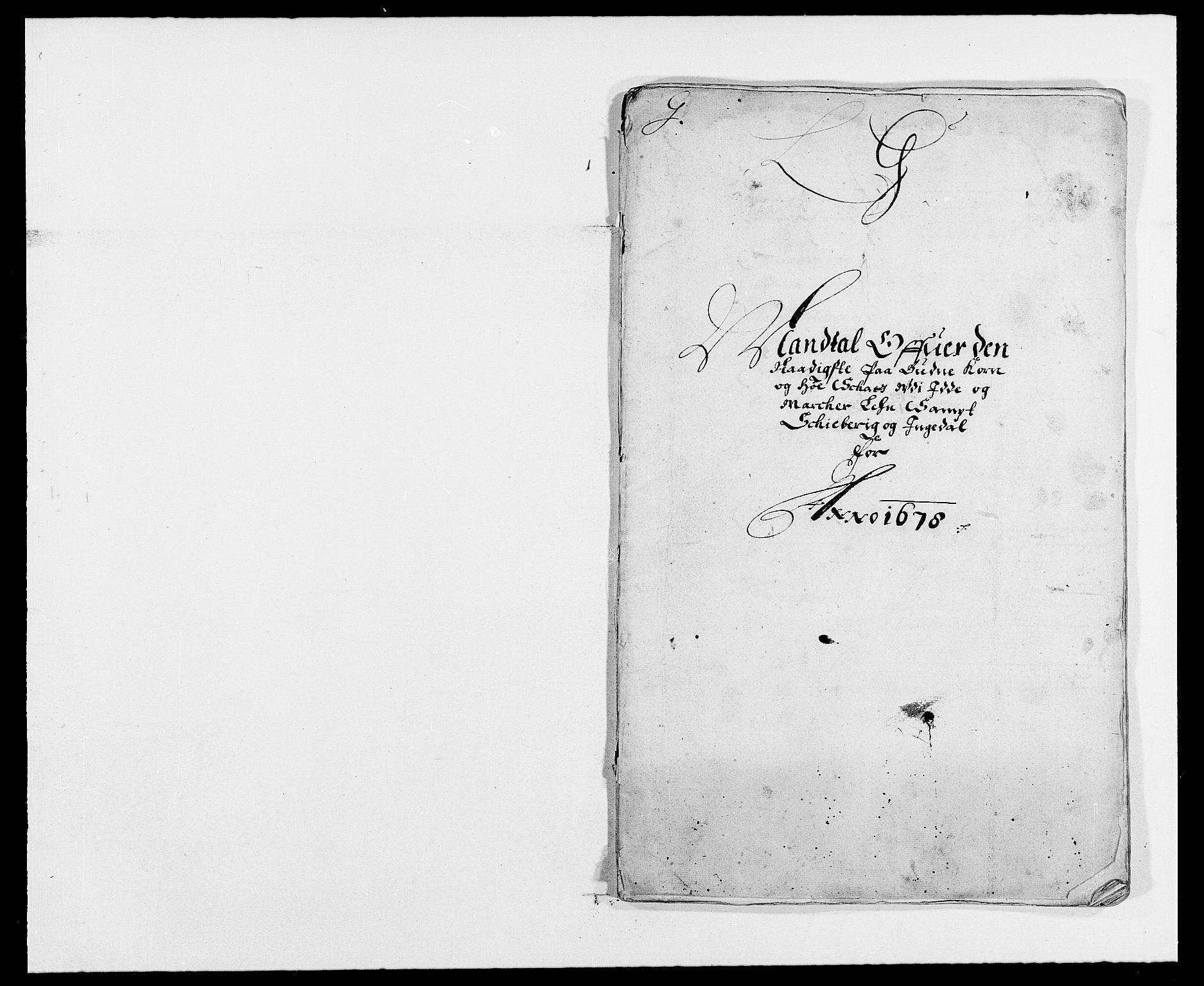 RA, Rentekammeret inntil 1814, Reviderte regnskaper, Fogderegnskap, R01/L0001: Fogderegnskap Idd og Marker, 1678-1679, s. 186