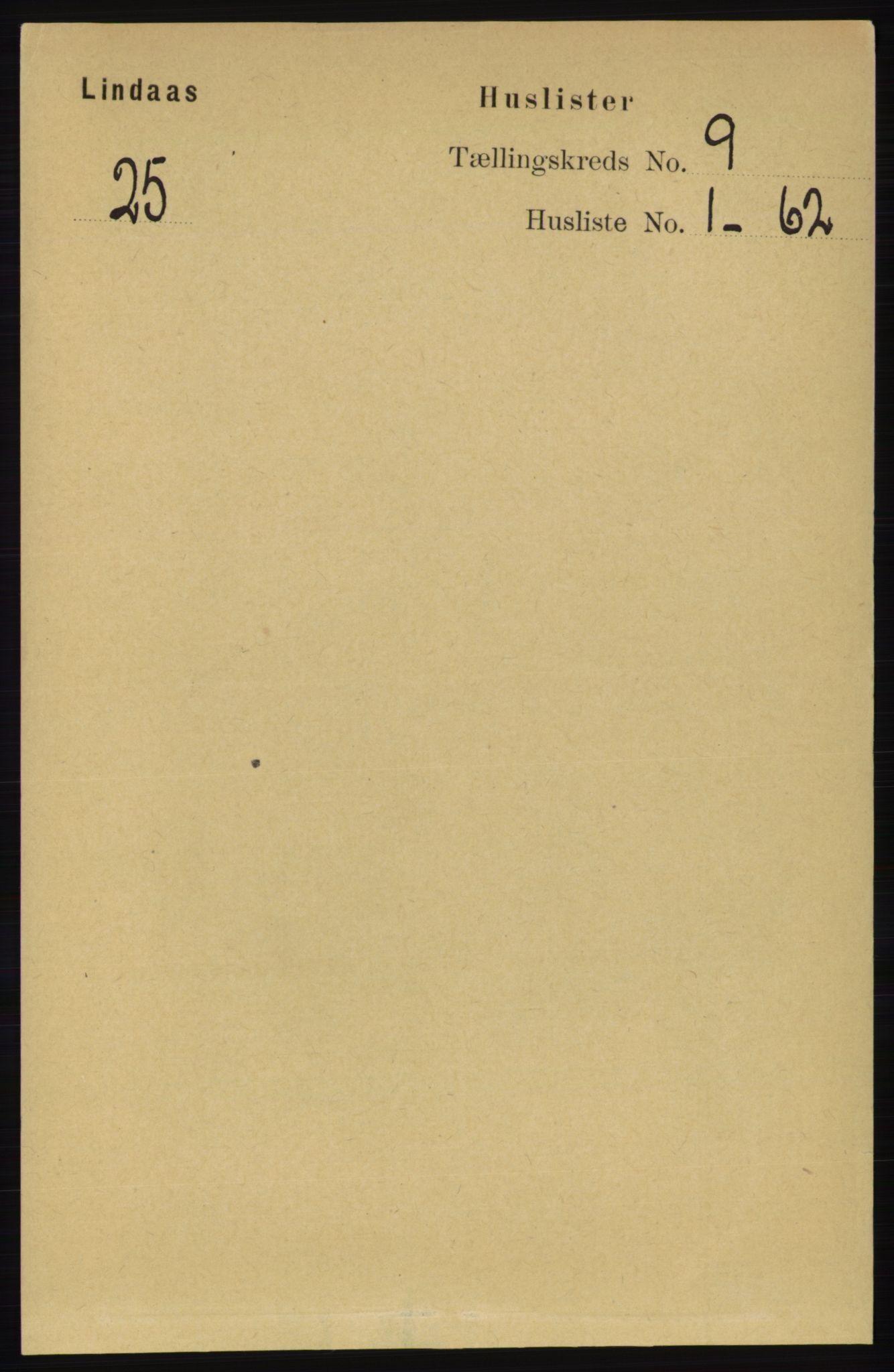 RA, Folketelling 1891 for 1263 Lindås herred, 1891, s. 2896