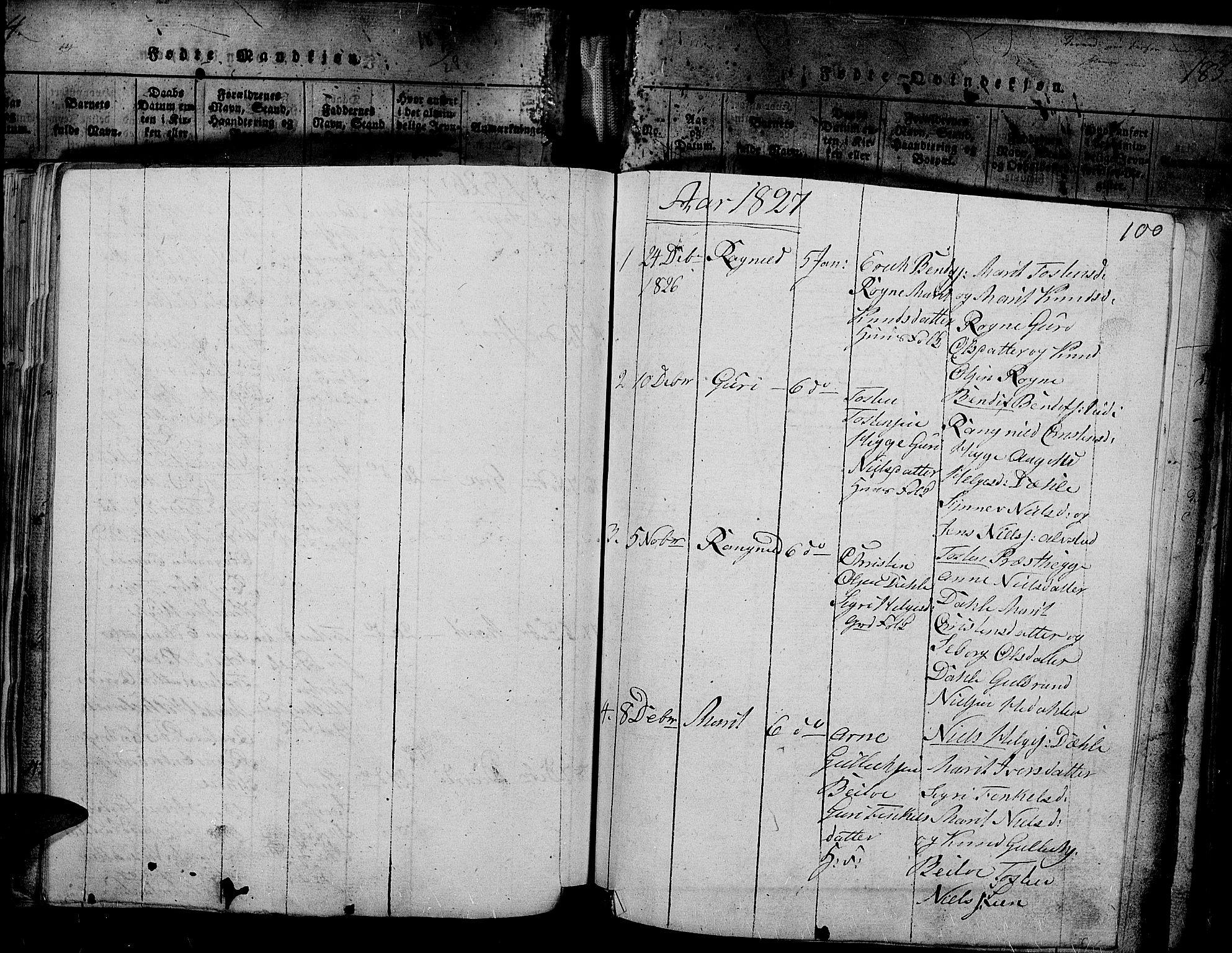 SAH, Slidre prestekontor, Ministerialbok nr. 2, 1814-1830, s. 187x