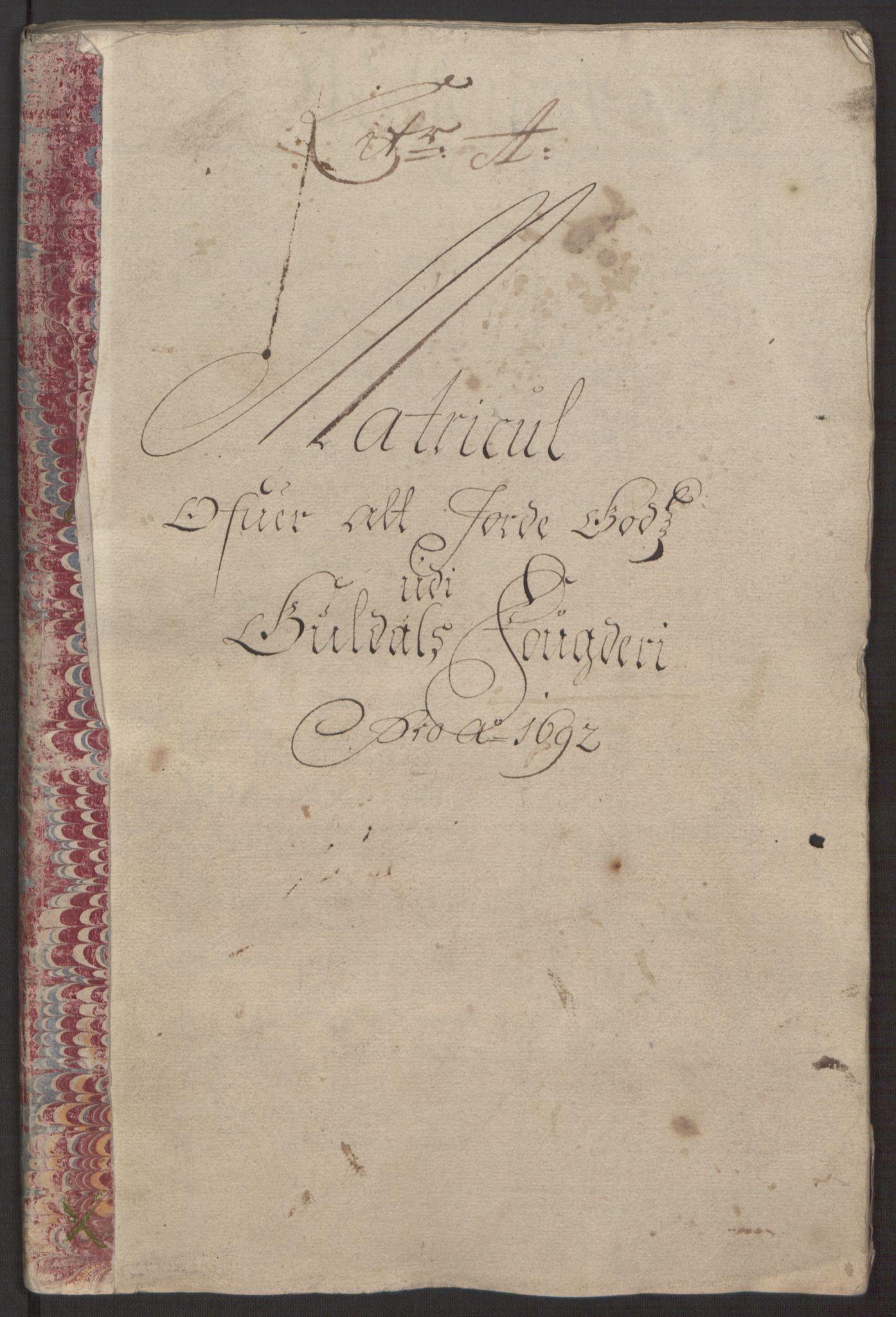 RA, Rentekammeret inntil 1814, Reviderte regnskaper, Fogderegnskap, R59/L3942: Fogderegnskap Gauldal, 1692, s. 33