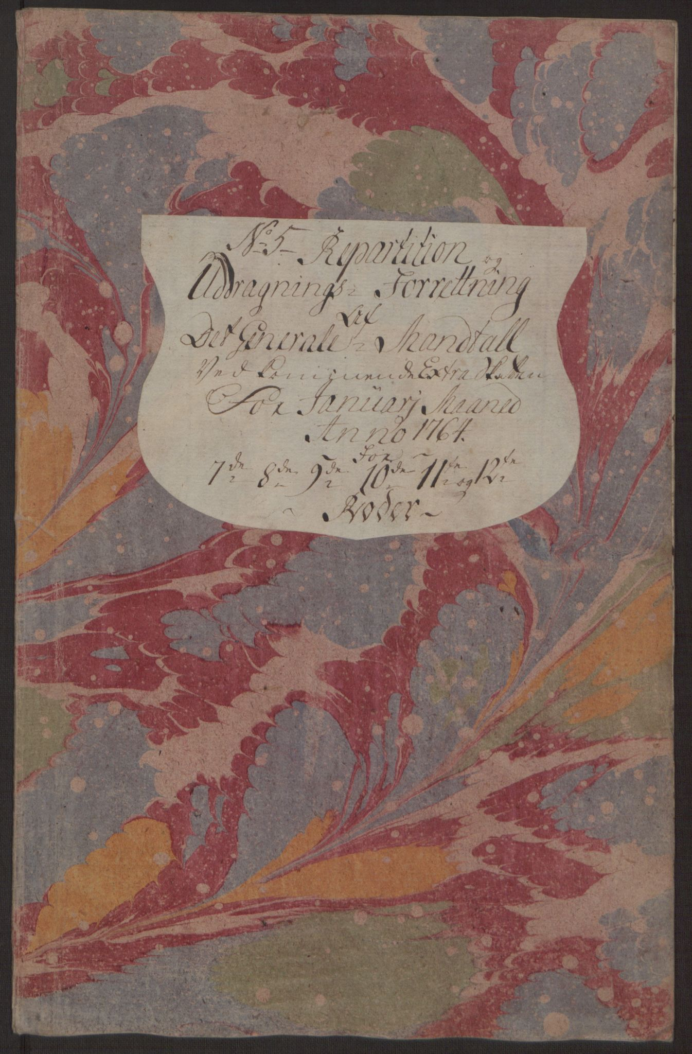 RA, Rentekammeret inntil 1814, Reviderte regnskaper, Byregnskaper, R/Rp/L0367: [P21] Kontribusjonsregnskap, 1764, s. 203