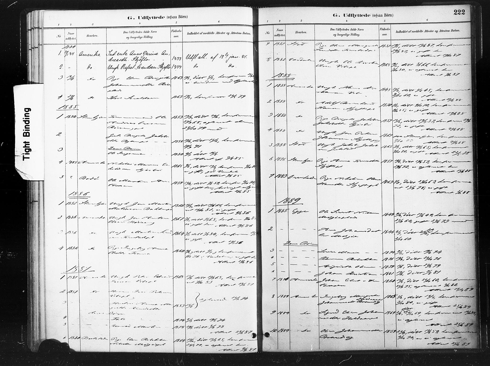 SAT, Ministerialprotokoller, klokkerbøker og fødselsregistre - Nord-Trøndelag, 736/L0361: Ministerialbok nr. 736A01, 1884-1906, s. 222