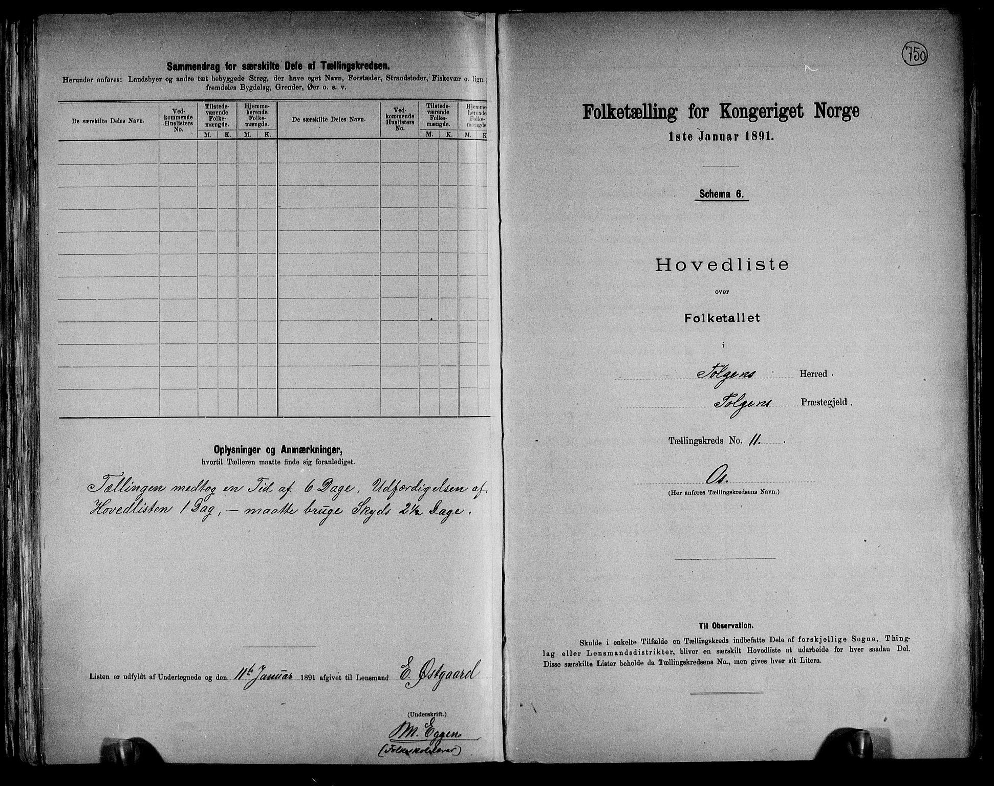 RA, Folketelling 1891 for 0436 Tolga herred, 1891, s. 36