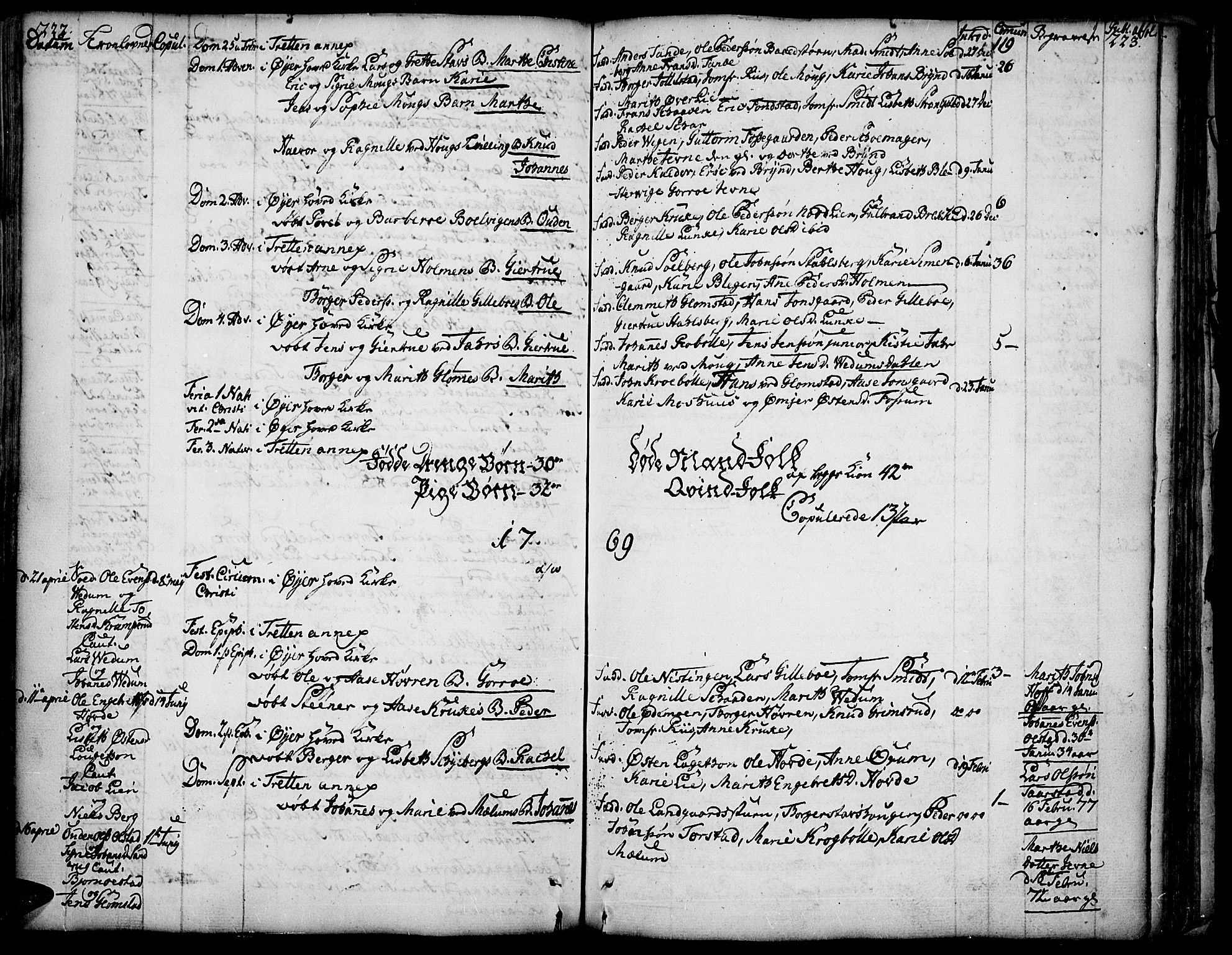 SAH, Øyer prestekontor, Ministerialbok nr. 2, 1733-1784, s. 222-223