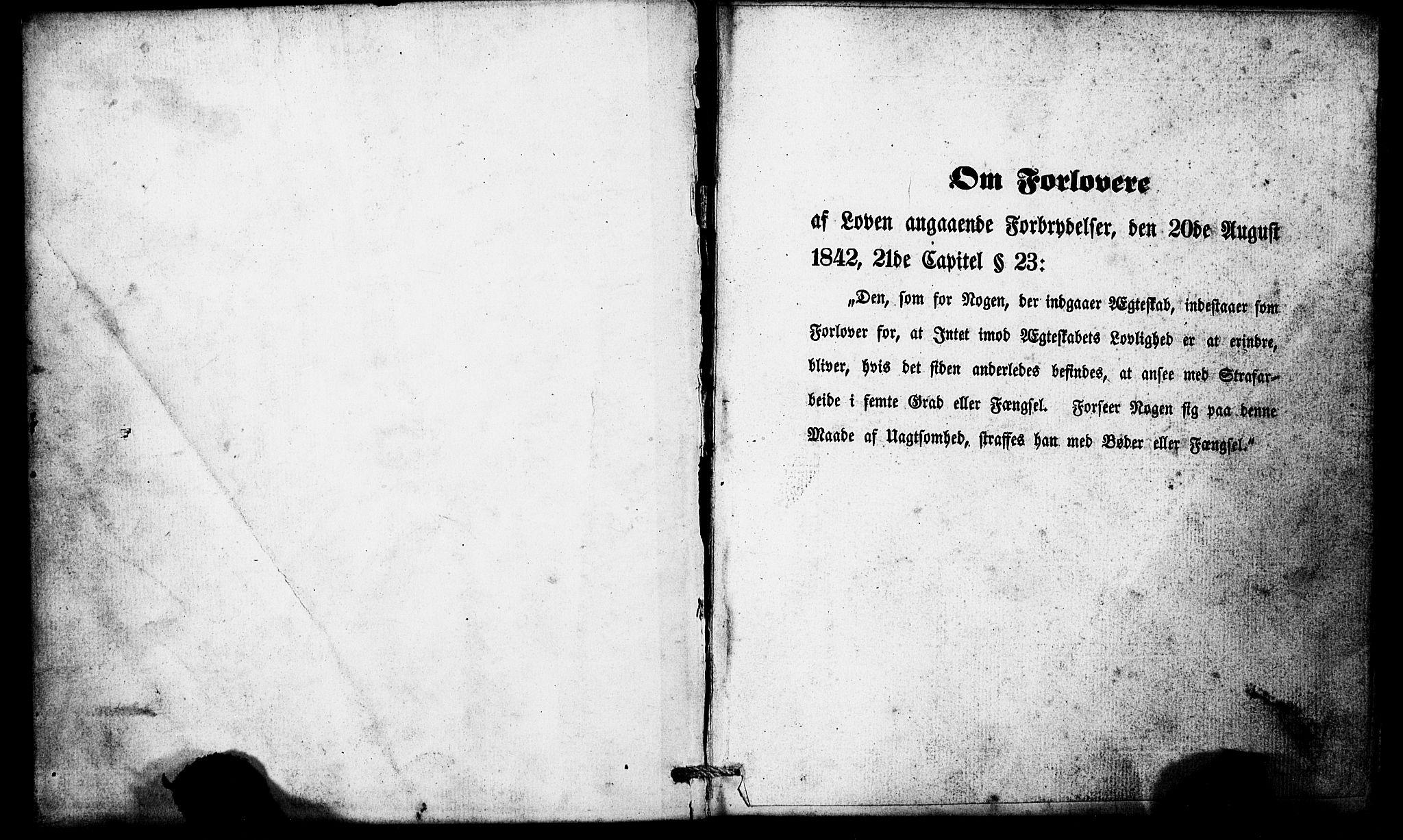 SAB, Domkirken Sokneprestembete, Forlovererklæringer nr. II.5.5, 1857-1863