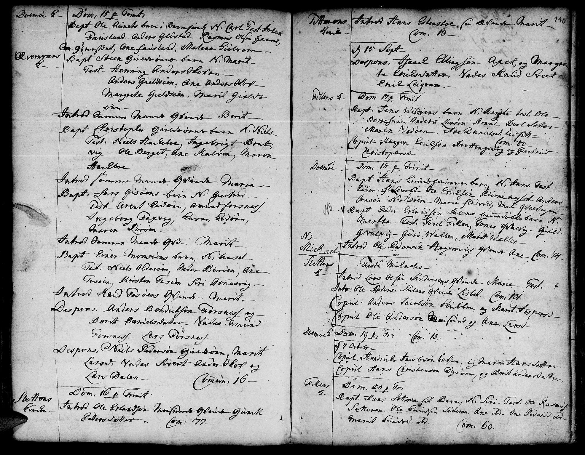 SAT, Ministerialprotokoller, klokkerbøker og fødselsregistre - Sør-Trøndelag, 634/L0525: Ministerialbok nr. 634A01, 1736-1775, s. 140