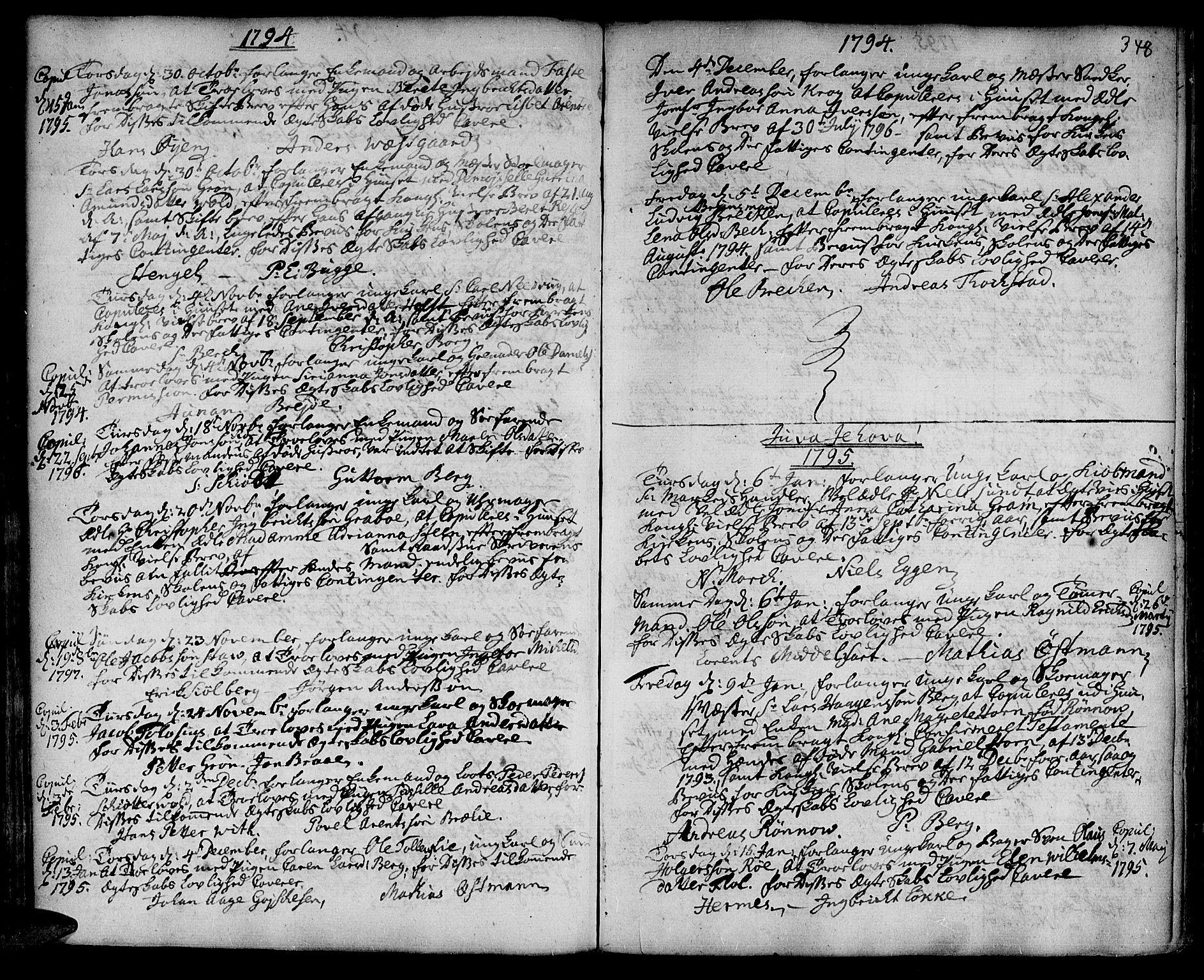 SAT, Ministerialprotokoller, klokkerbøker og fødselsregistre - Sør-Trøndelag, 601/L0038: Ministerialbok nr. 601A06, 1766-1877, s. 348