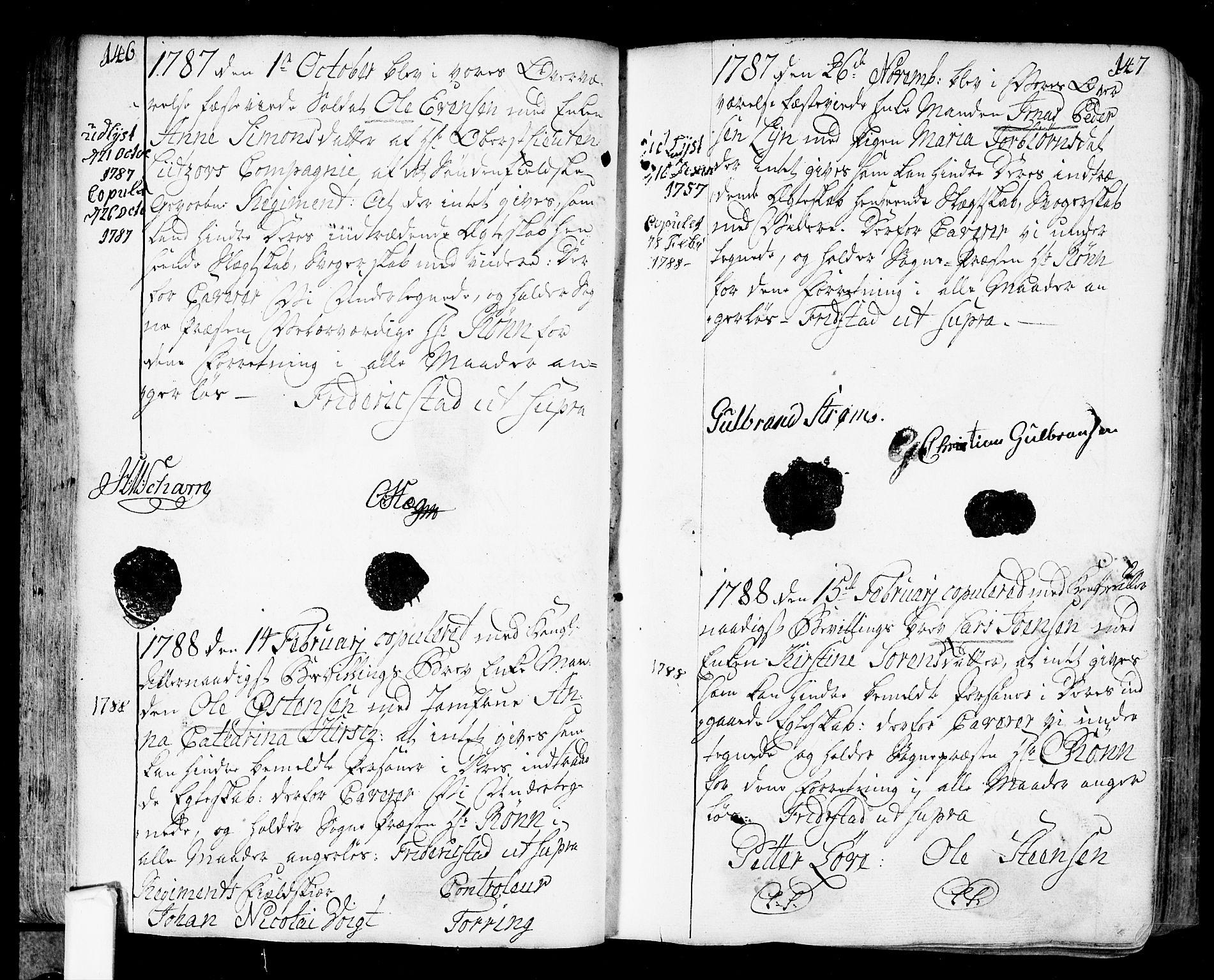 SAO, Fredrikstad prestekontor Kirkebøker, F/Fa/L0002: Ministerialbok nr. 2, 1750-1804, s. 146-147