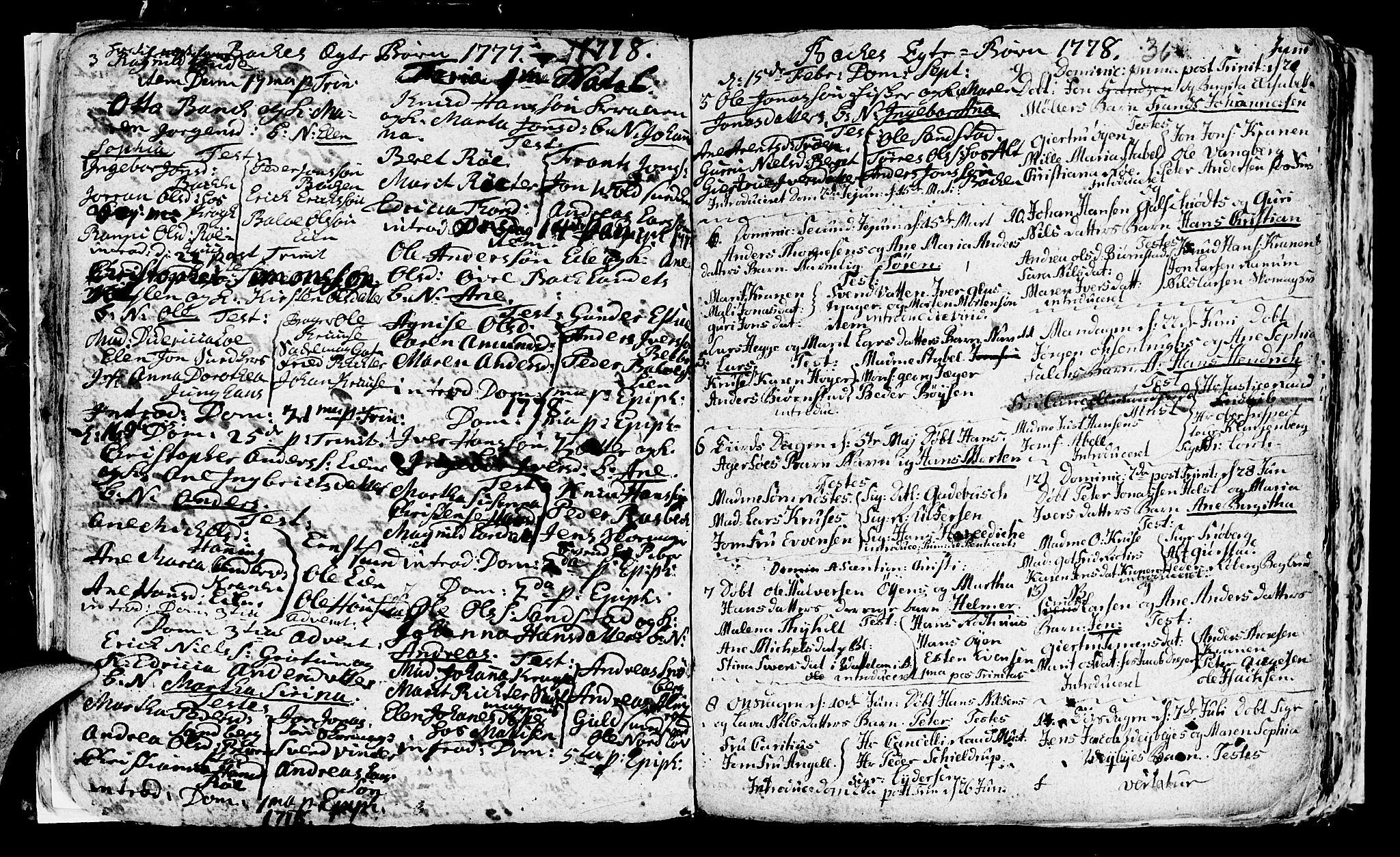 SAT, Ministerialprotokoller, klokkerbøker og fødselsregistre - Sør-Trøndelag, 604/L0218: Klokkerbok nr. 604C01, 1754-1819, s. 36