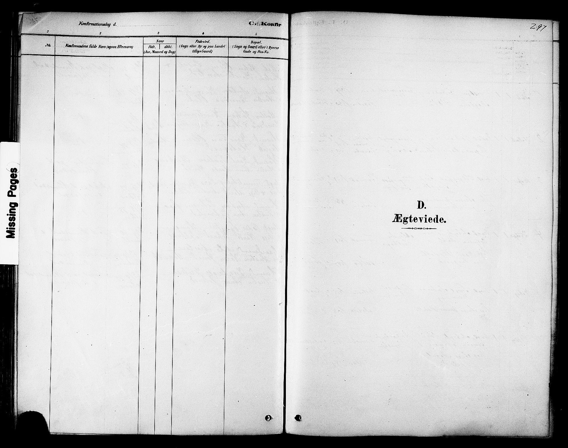 SAT, Ministerialprotokoller, klokkerbøker og fødselsregistre - Sør-Trøndelag, 606/L0294: Ministerialbok nr. 606A09, 1878-1886, s. 297
