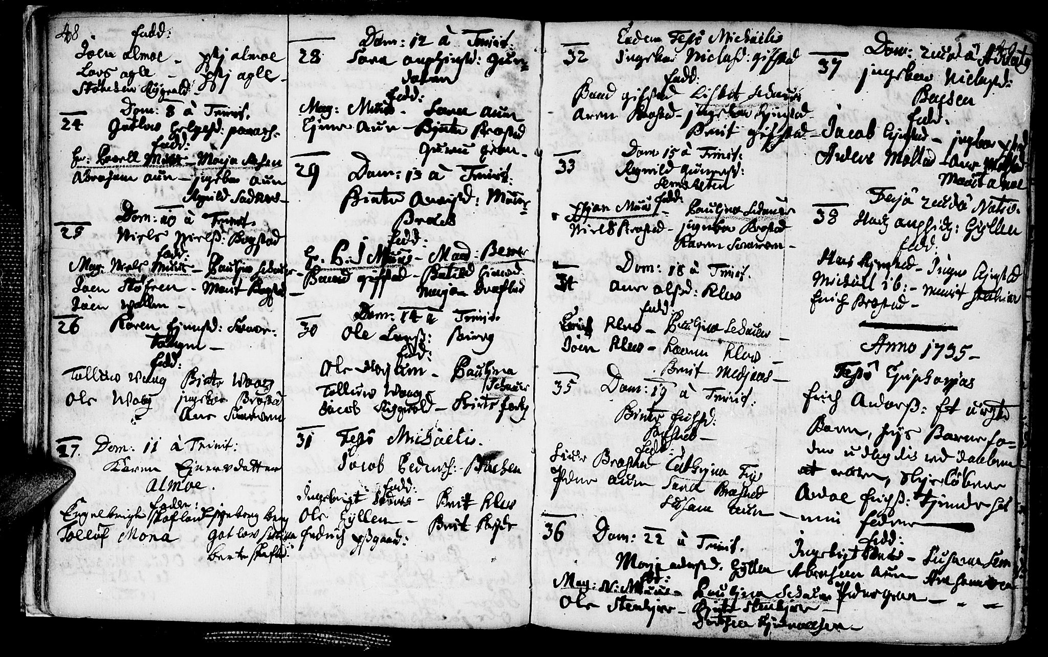 SAT, Ministerialprotokoller, klokkerbøker og fødselsregistre - Nord-Trøndelag, 749/L0467: Ministerialbok nr. 749A01, 1733-1787, s. 48-49
