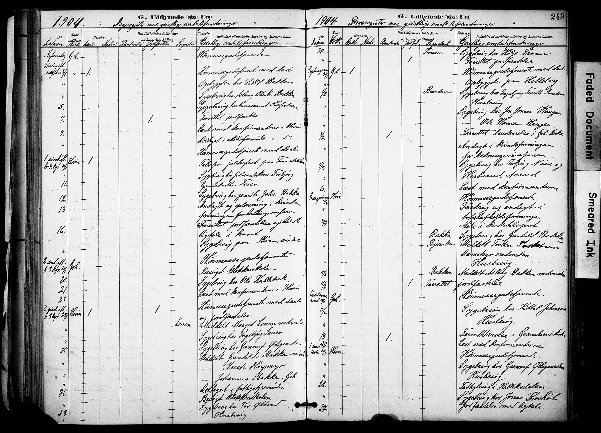 SAKO, Gransherad kirkebøker, F/Fa/L0005: Ministerialbok nr. I 5, 1887-1916, s. 243