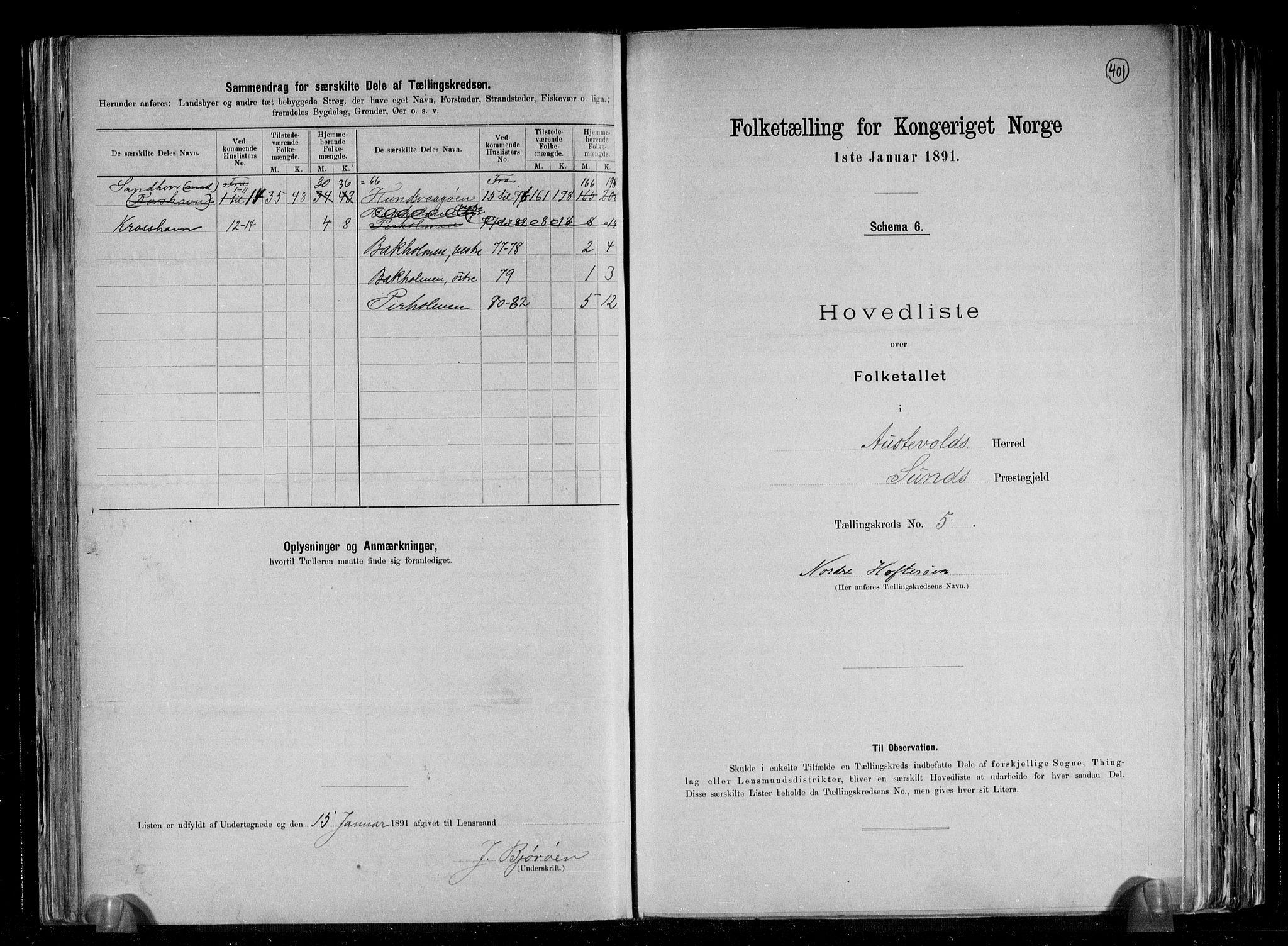 RA, Folketelling 1891 for 1244 Austevoll herred, 1891, s. 12