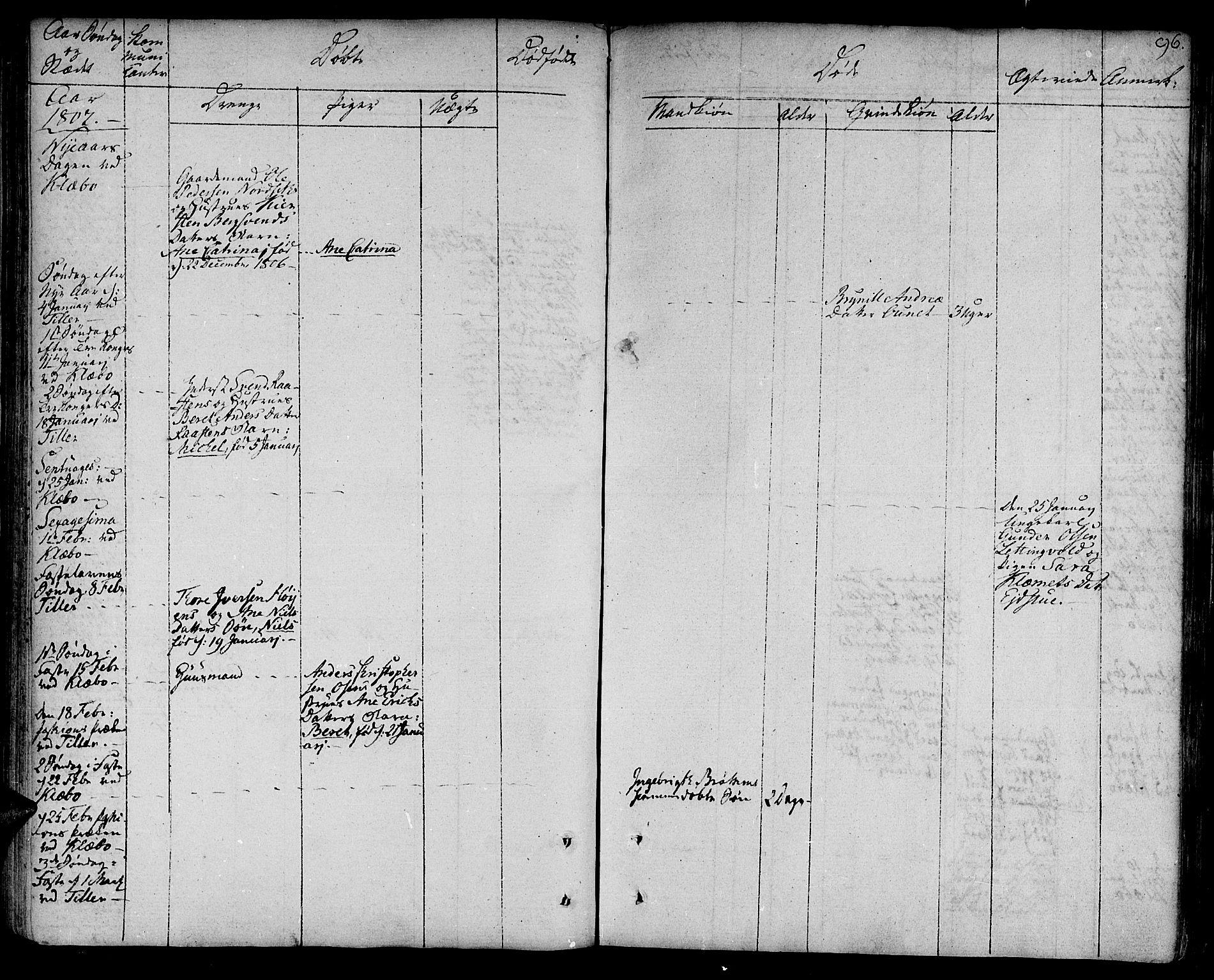 SAT, Ministerialprotokoller, klokkerbøker og fødselsregistre - Sør-Trøndelag, 618/L0438: Ministerialbok nr. 618A03, 1783-1815, s. 96