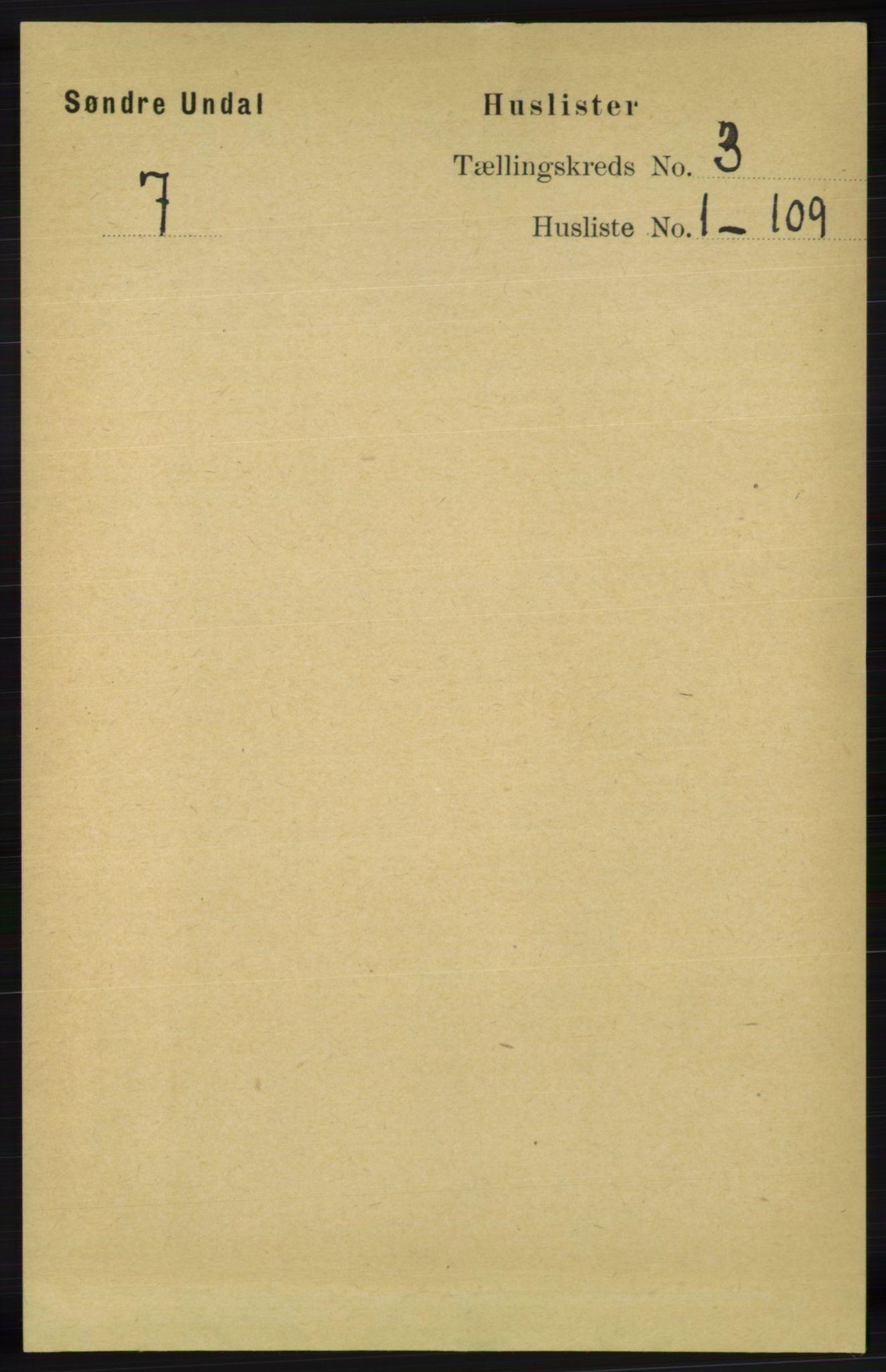 RA, Folketelling 1891 for 1029 Sør-Audnedal herred, 1891, s. 693