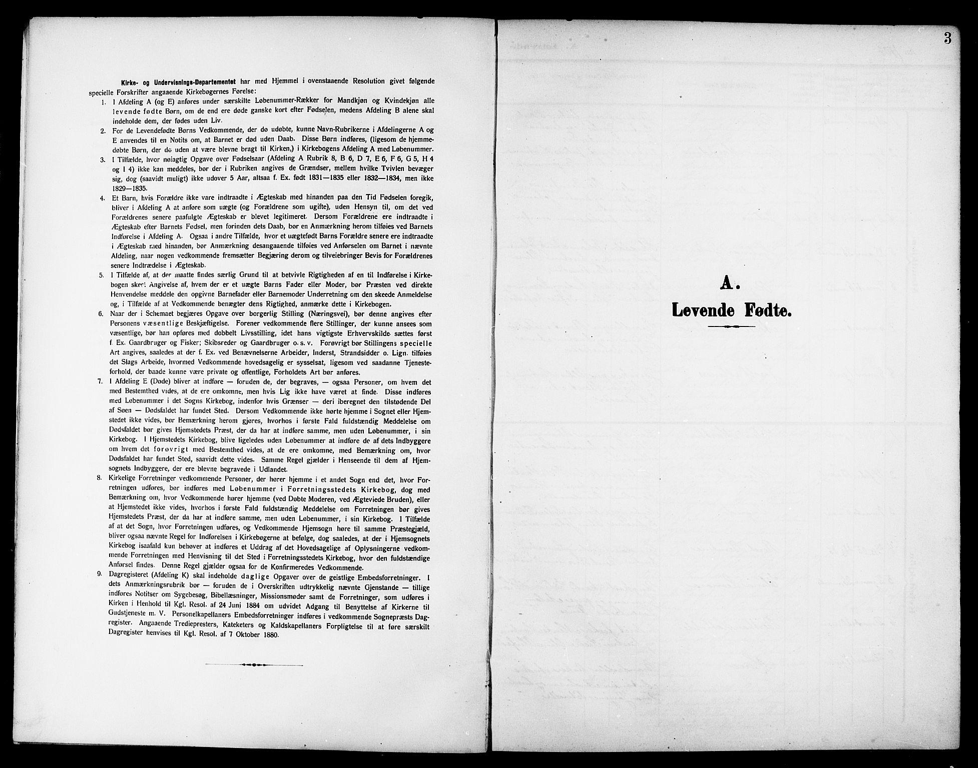 SAT, Ministerialprotokoller, klokkerbøker og fødselsregistre - Nord-Trøndelag, 744/L0424: Klokkerbok nr. 744C03, 1906-1923, s. 3