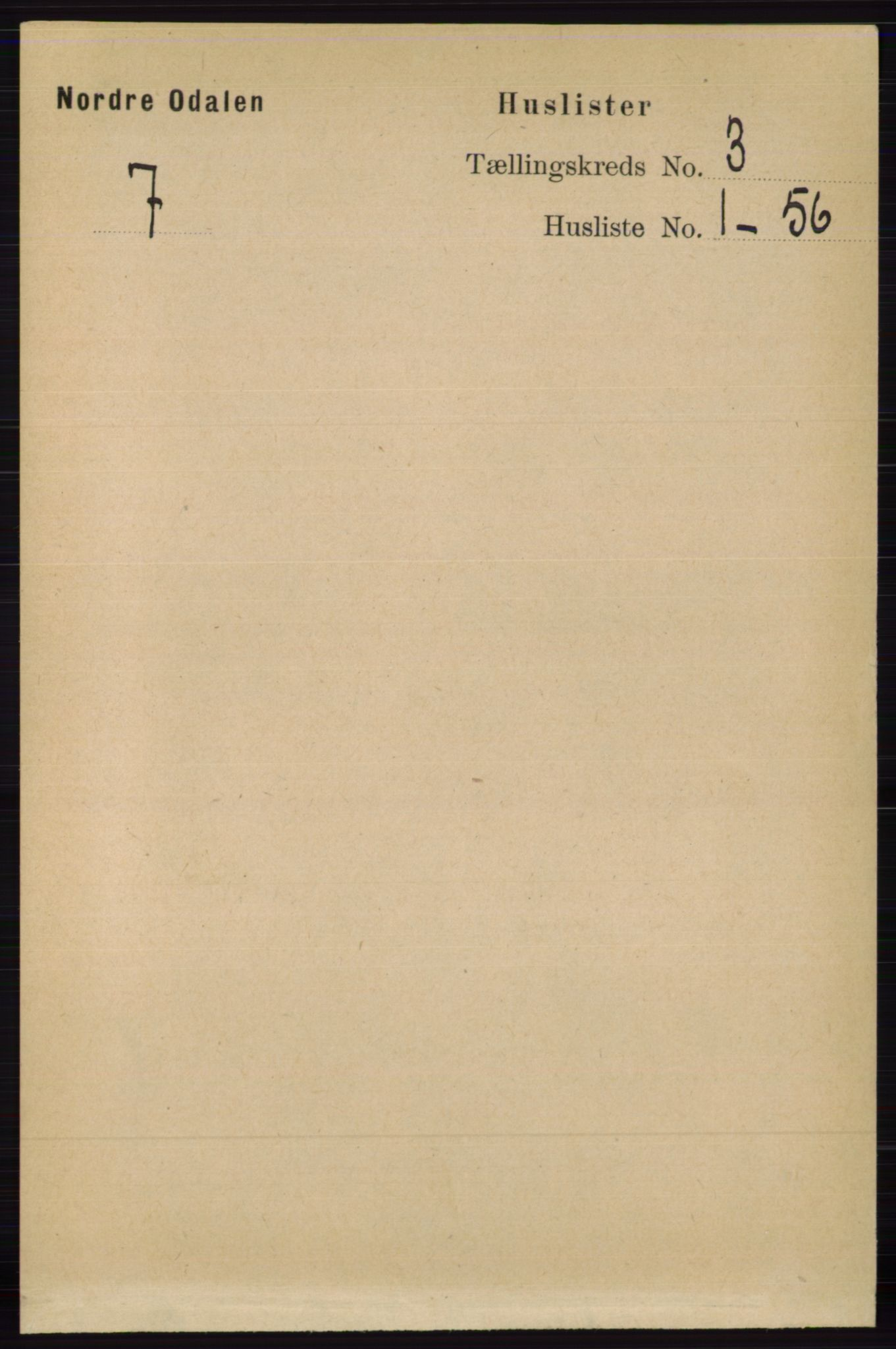 RA, Folketelling 1891 for 0418 Nord-Odal herred, 1891, s. 760