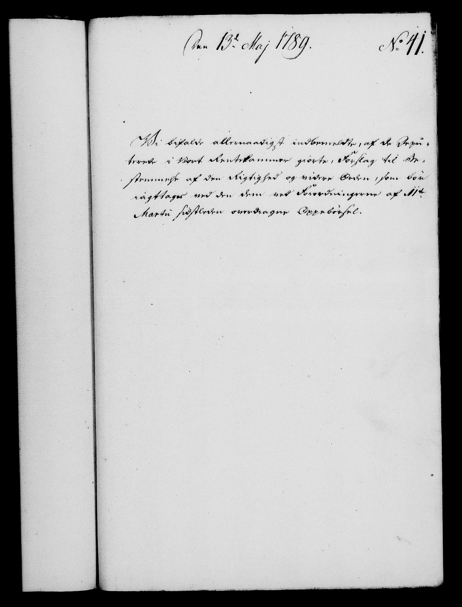 RA, Rentekammeret, Kammerkanselliet, G/Gf/Gfa/L0071: Norsk relasjons- og resolusjonsprotokoll (merket RK 52.71), 1789, s. 291