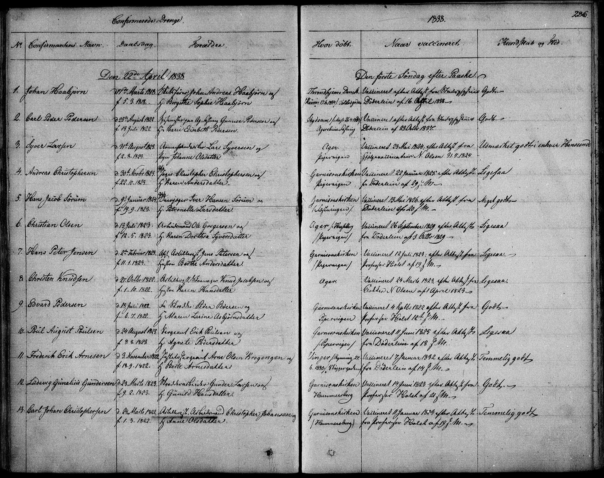 SAO, Garnisonsmenigheten Kirkebøker, F/Fa/L0006: Ministerialbok nr. 6, 1828-1841, s. 286