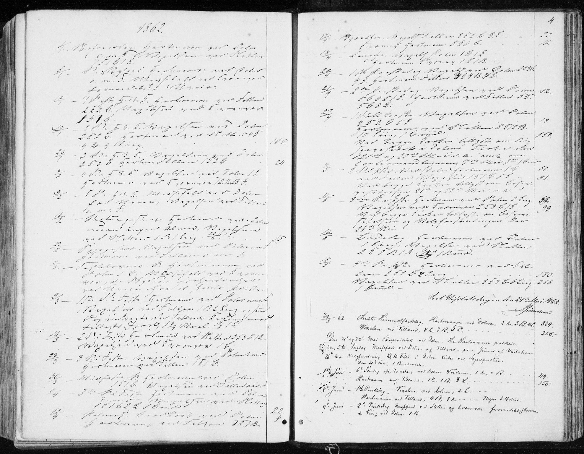 SAT, Ministerialprotokoller, klokkerbøker og fødselsregistre - Sør-Trøndelag, 634/L0531: Ministerialbok nr. 634A07, 1861-1870, s. 4