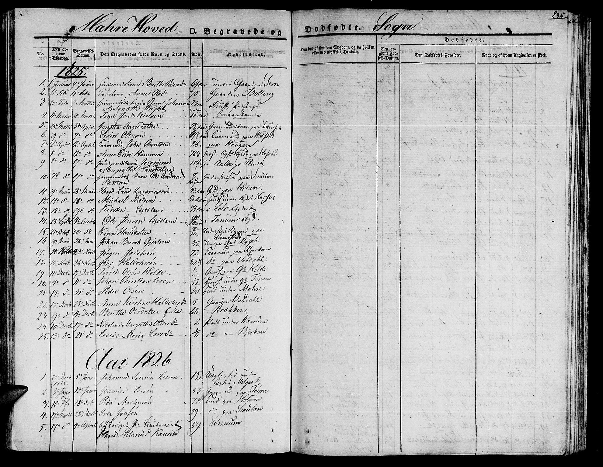 SAT, Ministerialprotokoller, klokkerbøker og fødselsregistre - Nord-Trøndelag, 735/L0336: Ministerialbok nr. 735A05 /1, 1825-1835, s. 235