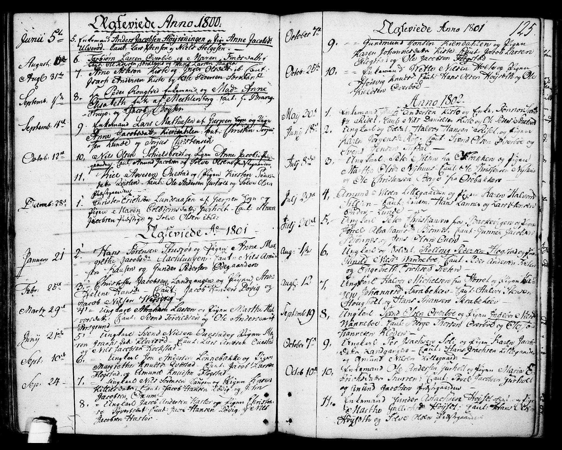 SAKO, Eidanger kirkebøker, F/Fa/L0006: Ministerialbok nr. 6, 1764-1814, s. 125