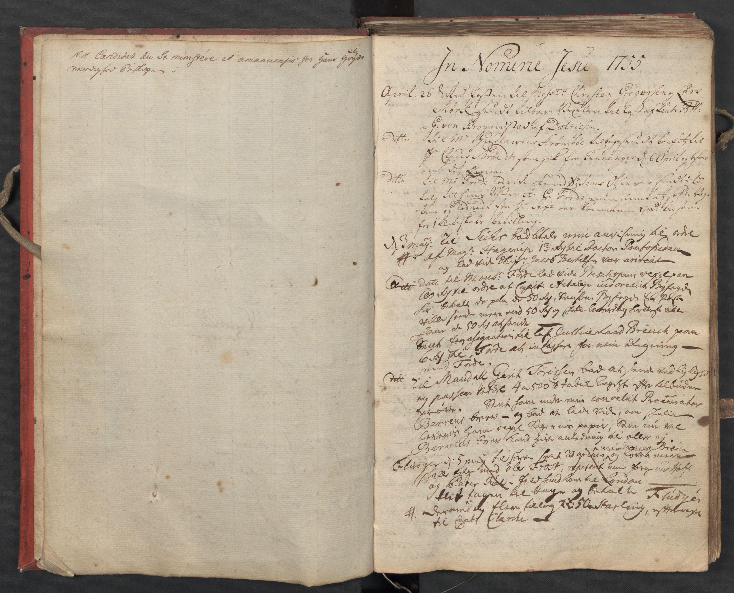 SAST, Pa 0119 - Smith, Lauritz Andersen og Lauritz Lauritzen, O/L0002: Kopibok, 1755-1766, s. 3