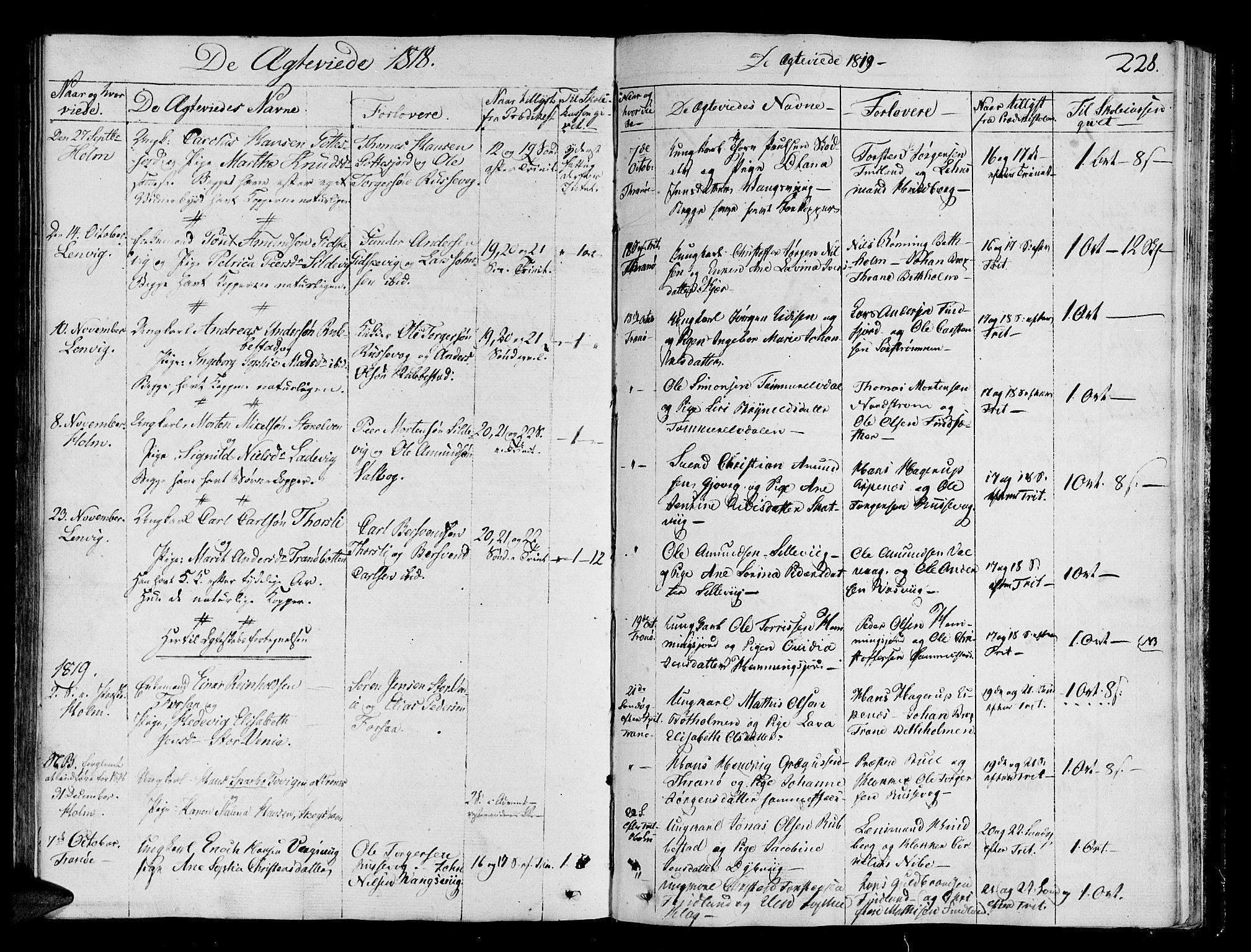 SATØ, Tranøy sokneprestkontor, I/Ia/Iaa/L0003kirke: Ministerialbok nr. 3, 1807-1820, s. 228