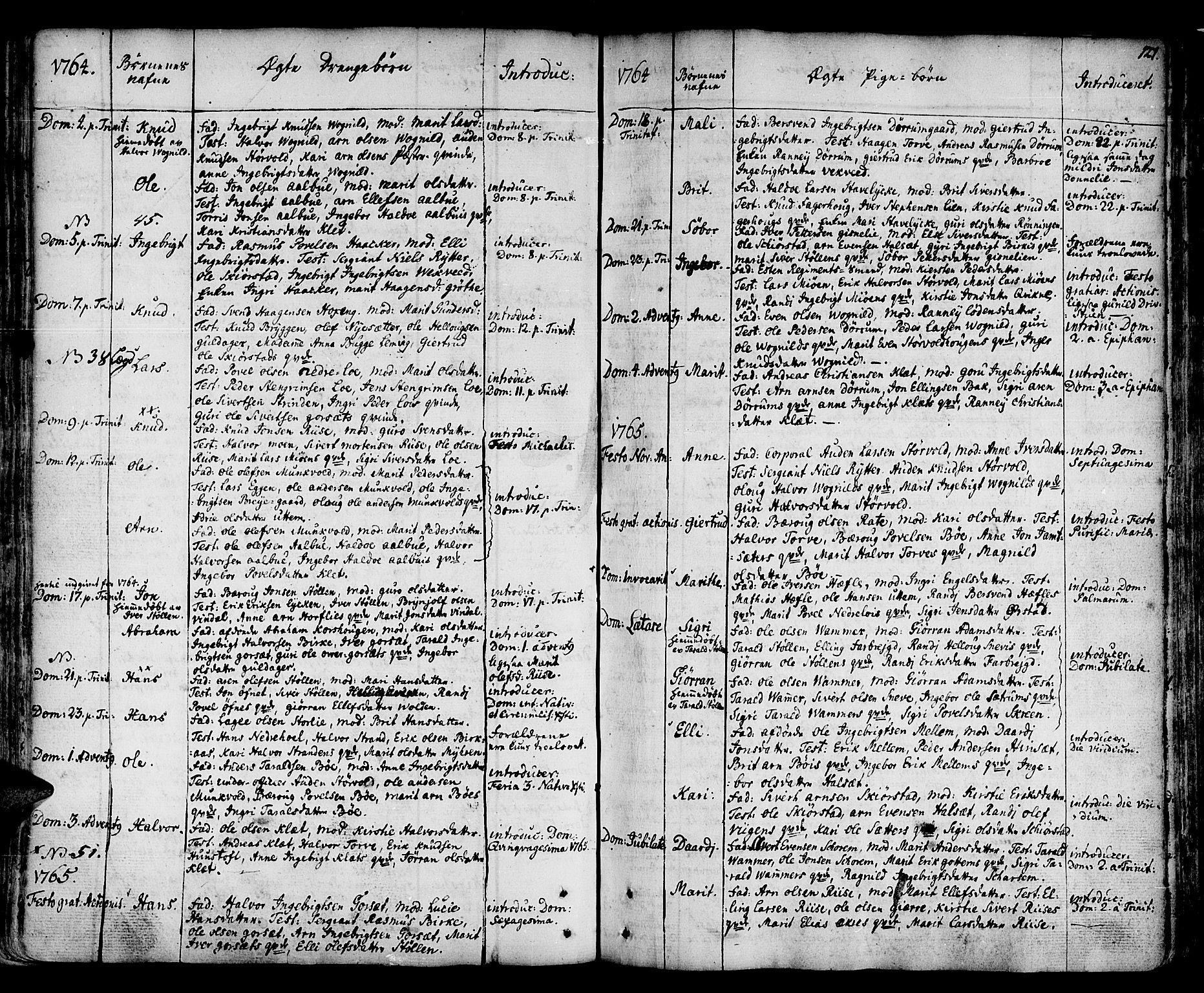 SAT, Ministerialprotokoller, klokkerbøker og fødselsregistre - Sør-Trøndelag, 678/L0891: Ministerialbok nr. 678A01, 1739-1780, s. 121