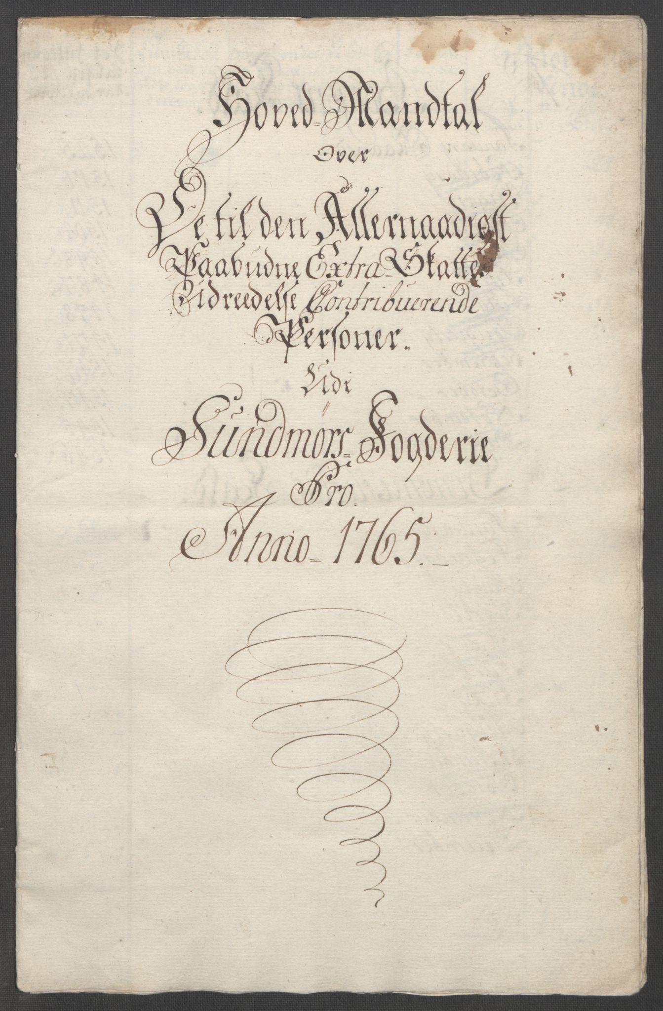 RA, Rentekammeret inntil 1814, Reviderte regnskaper, Fogderegnskap, R54/L3645: Ekstraskatten Sunnmøre, 1762-1772, s. 66