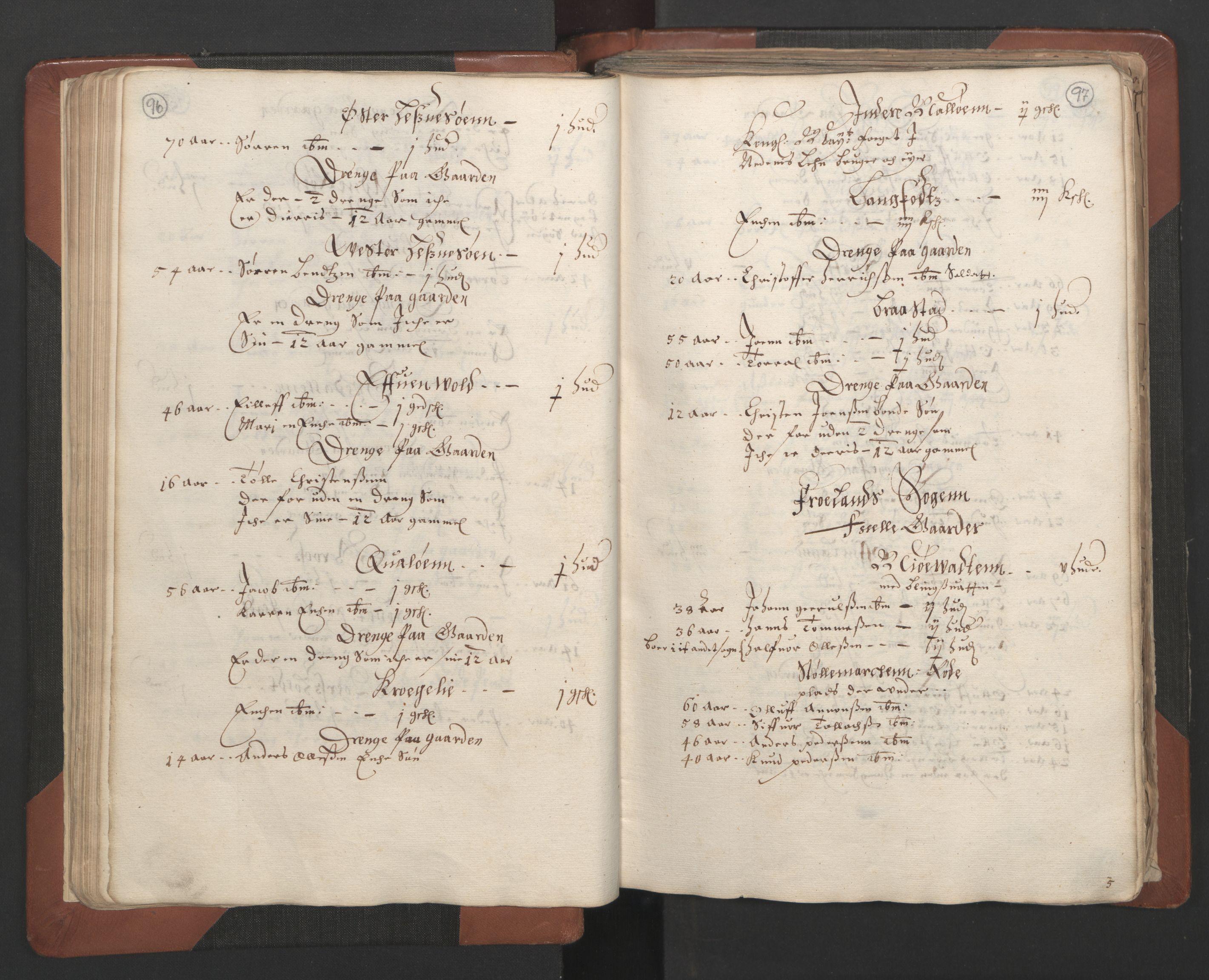 RA, Fogdenes og sorenskrivernes manntall 1664-1666, nr. 7: Nedenes fogderi, 1664-1666, s. 96-97
