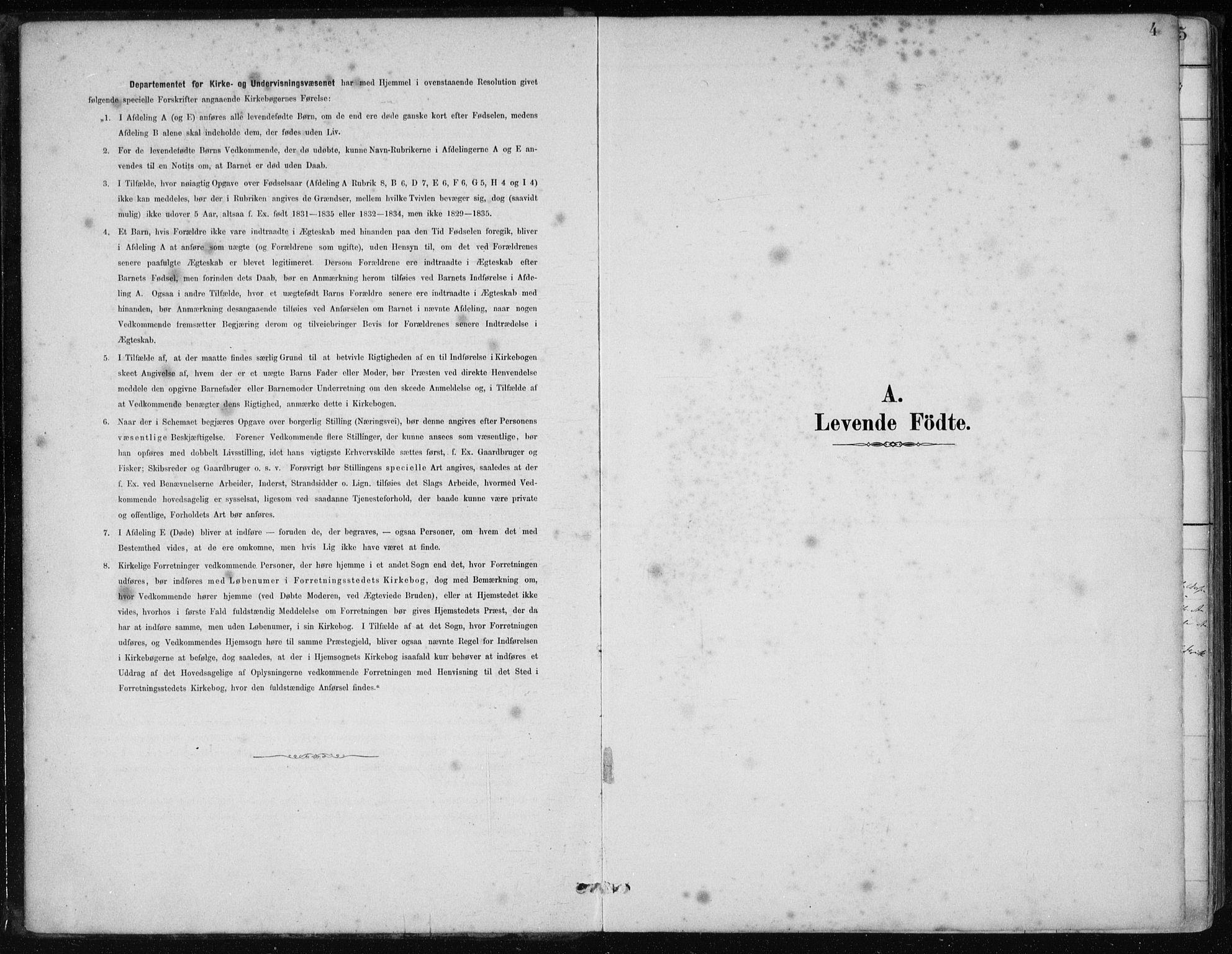 SAB, Os sokneprestembete*, Ministerialbok nr. B 1, 1885-1902, s. 4