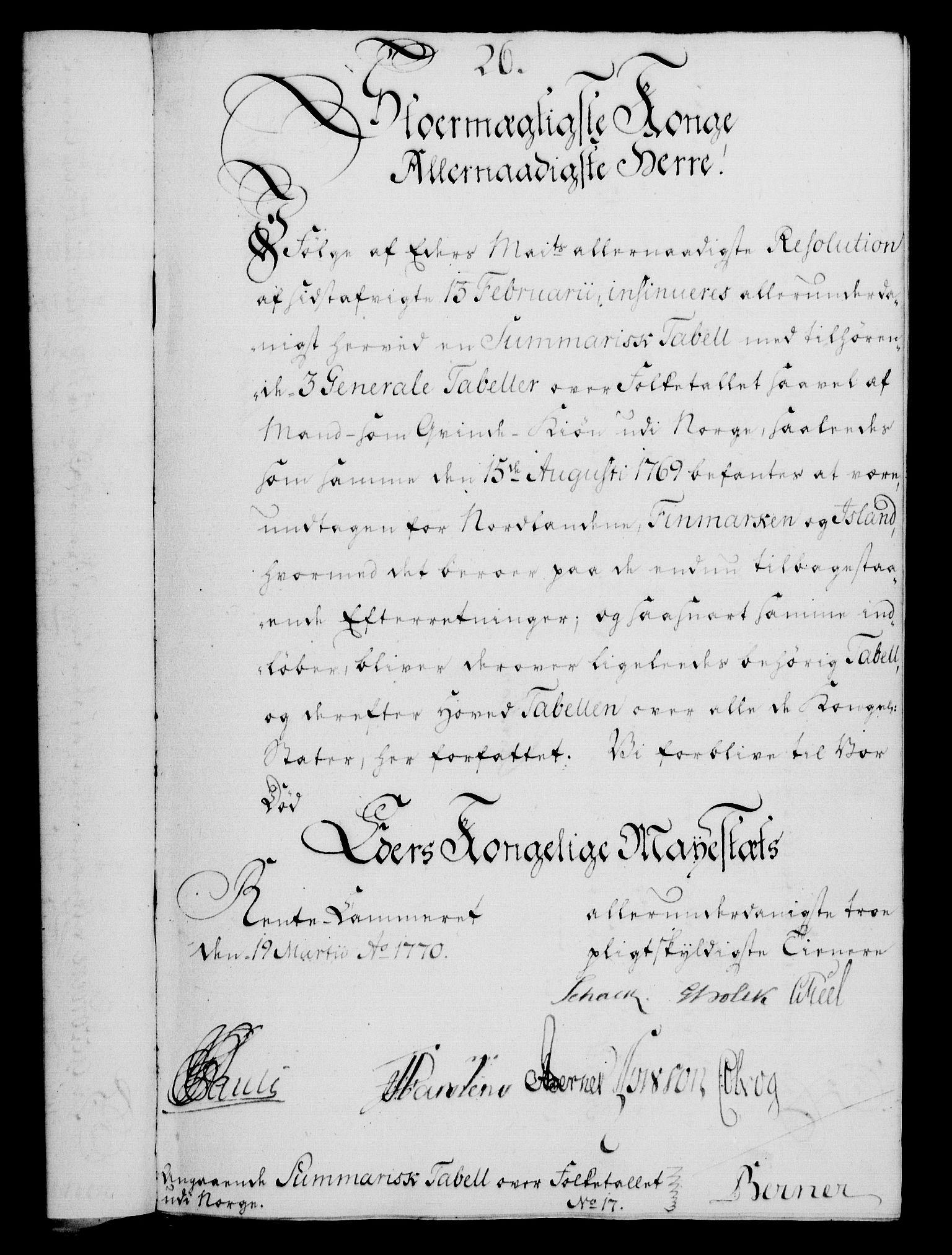 RA, Rentekammeret, Kammerkanselliet, G/Gf/Gfa/L0052: Norsk relasjons- og resolusjonsprotokoll (merket RK 52.52), 1770, s. 135