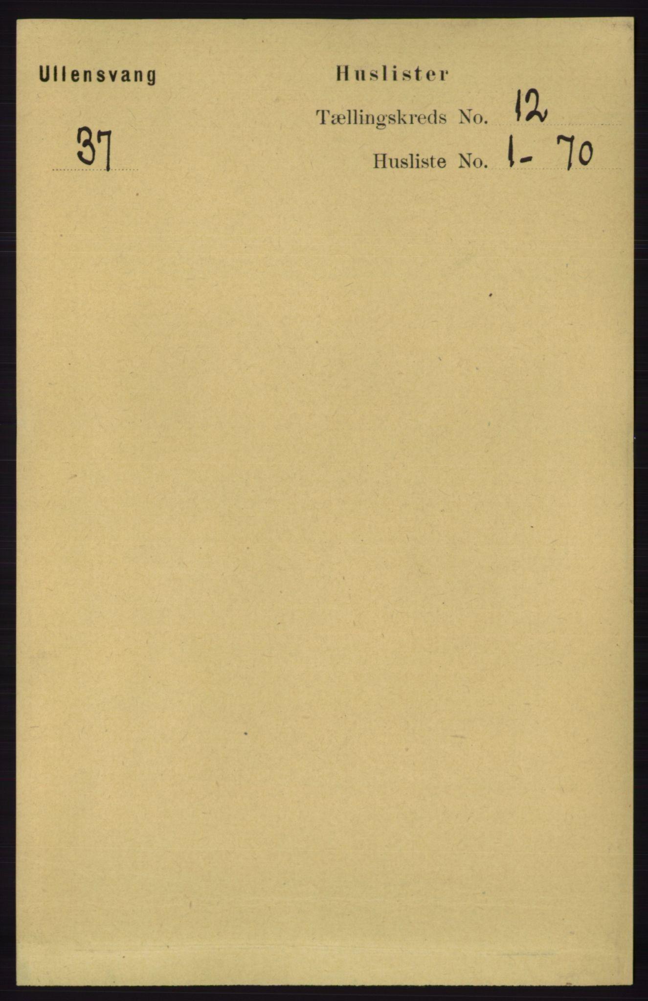 RA, Folketelling 1891 for 1230 Ullensvang herred, 1891, s. 4595