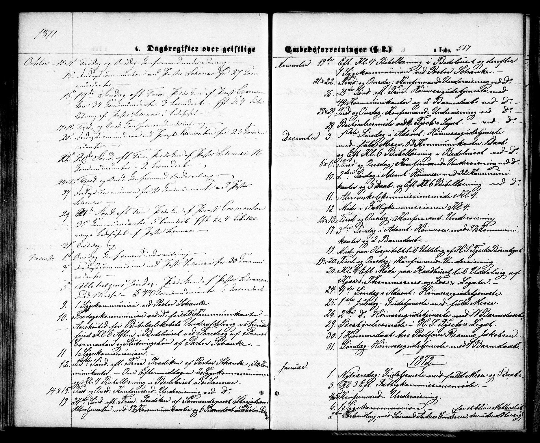 SAK, Arendal sokneprestkontor, Trefoldighet, F/Fa/L0007: Ministerialbok nr. A 7, 1868-1878, s. 517