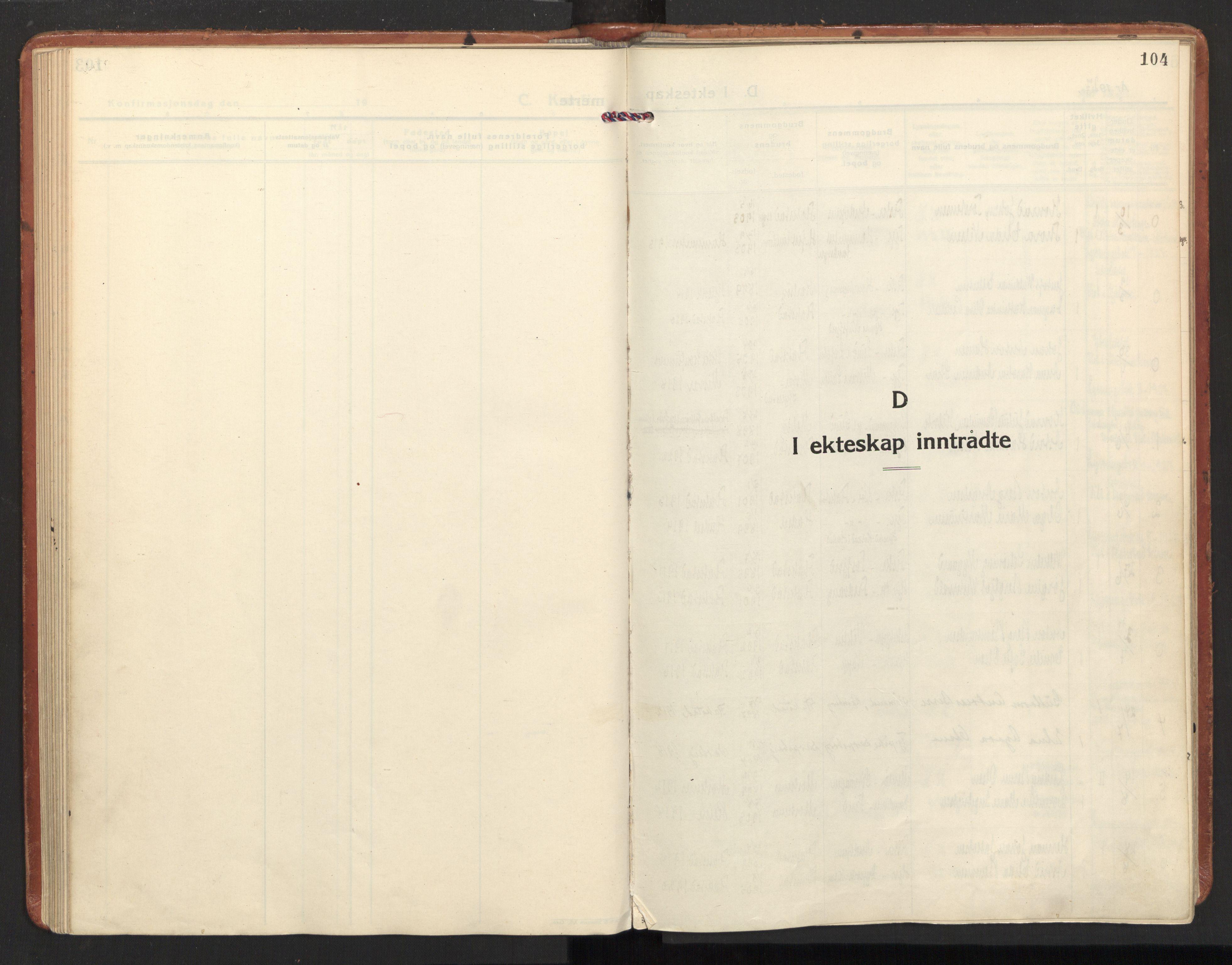SAT, Ministerialprotokoller, klokkerbøker og fødselsregistre - Nordland, 885/L1211: Ministerialbok nr. 885A11, 1927-1938, s. 104