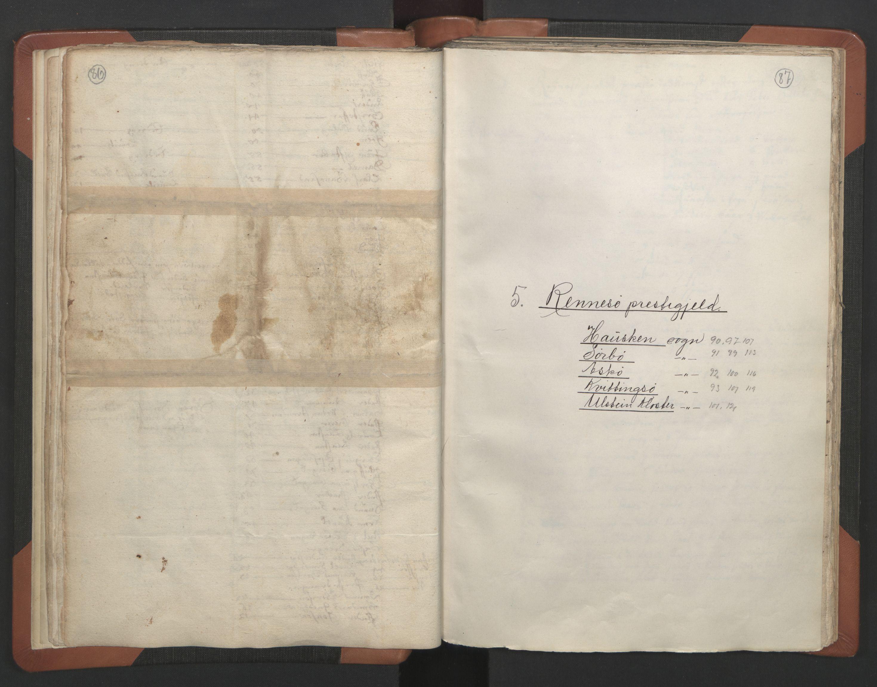 RA, Sogneprestenes manntall 1664-1666, nr. 18: Stavanger prosti og Karmsund prosti, 1664-1666, s. 86-87