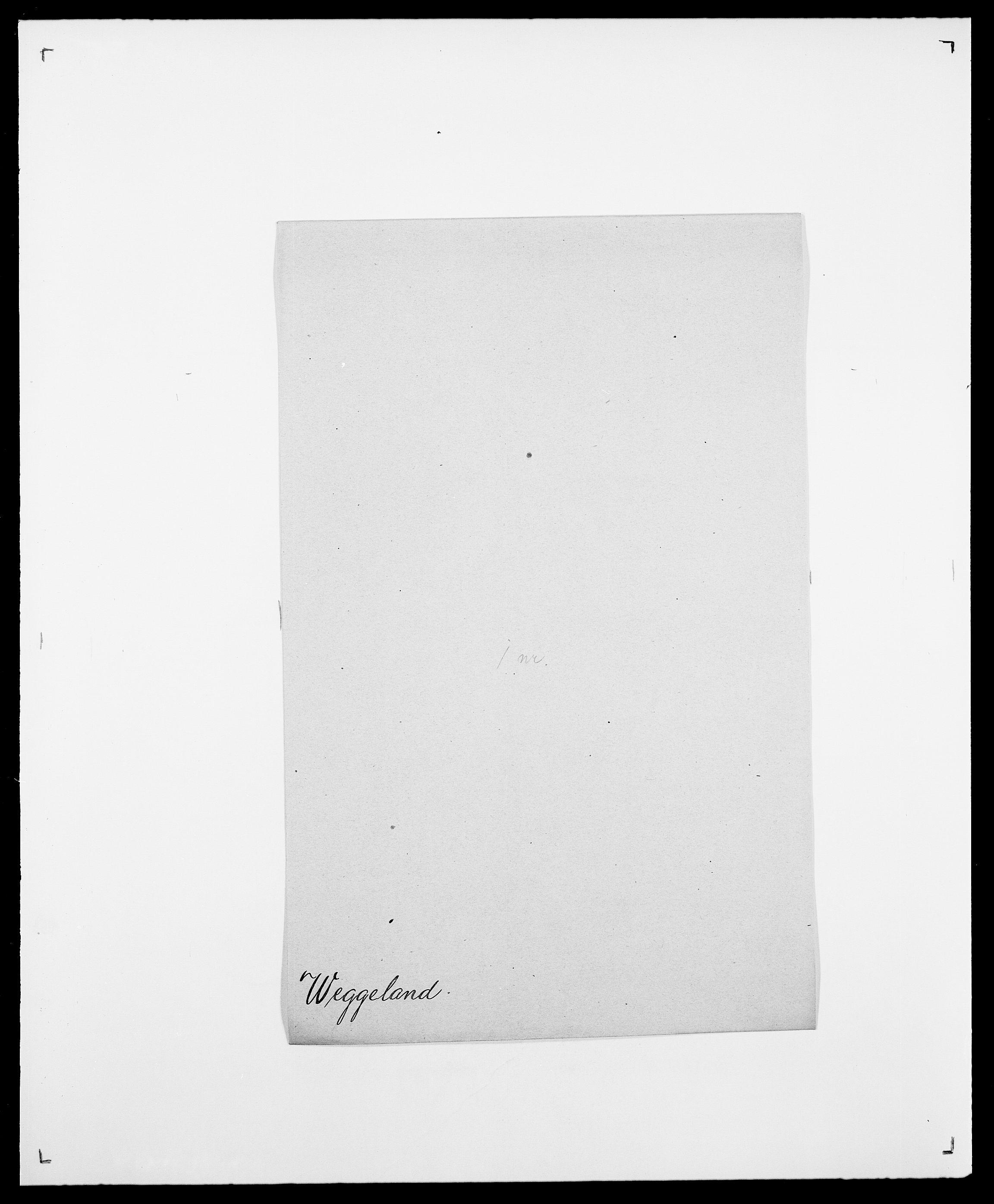 SAO, Delgobe, Charles Antoine - samling, D/Da/L0040: Usgaard - Velund, s. 501