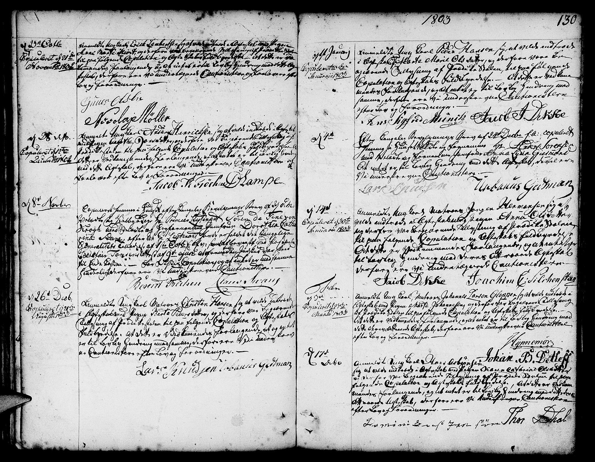 SAB, Nykirken Sokneprestembete, H/Haa: Ministerialbok nr. A 8, 1776-1814, s. 130