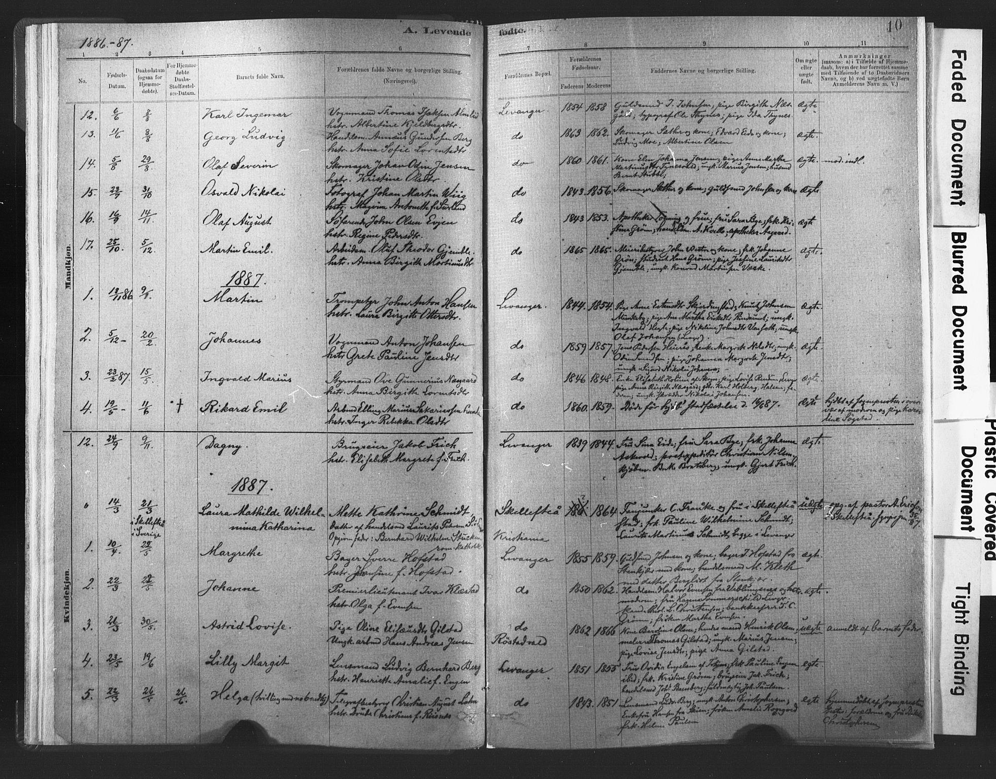 SAT, Ministerialprotokoller, klokkerbøker og fødselsregistre - Nord-Trøndelag, 720/L0189: Ministerialbok nr. 720A05, 1880-1911, s. 10