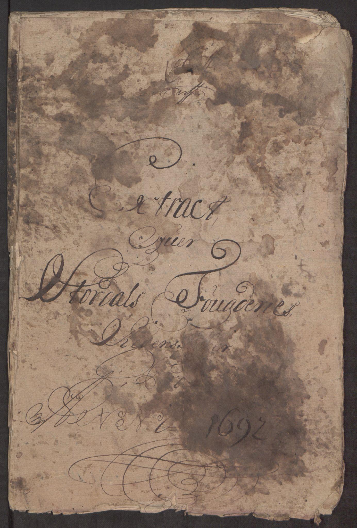 RA, Rentekammeret inntil 1814, Reviderte regnskaper, Fogderegnskap, R62/L4185: Fogderegnskap Stjørdal og Verdal, 1692, s. 7