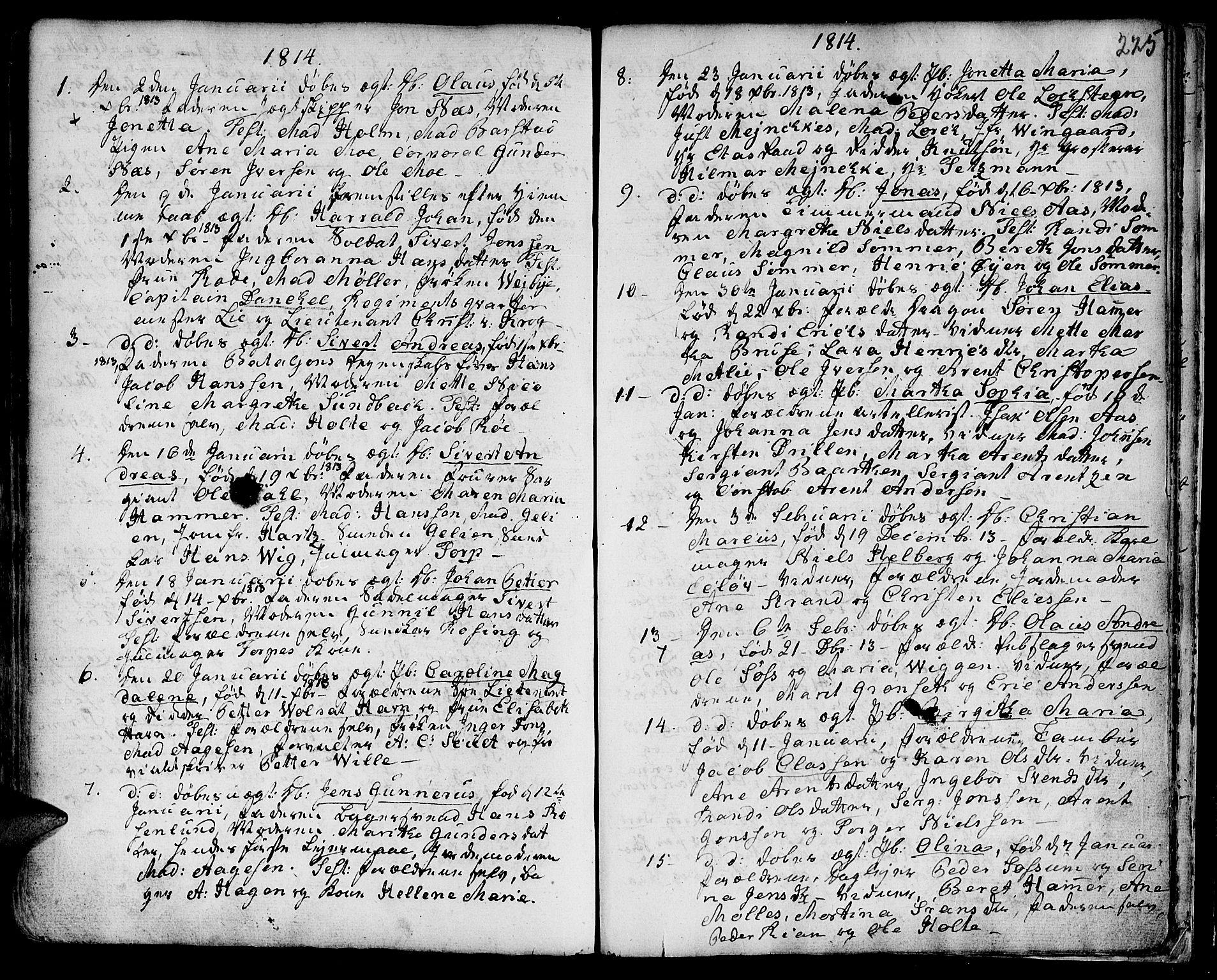SAT, Ministerialprotokoller, klokkerbøker og fødselsregistre - Sør-Trøndelag, 601/L0039: Ministerialbok nr. 601A07, 1770-1819, s. 225