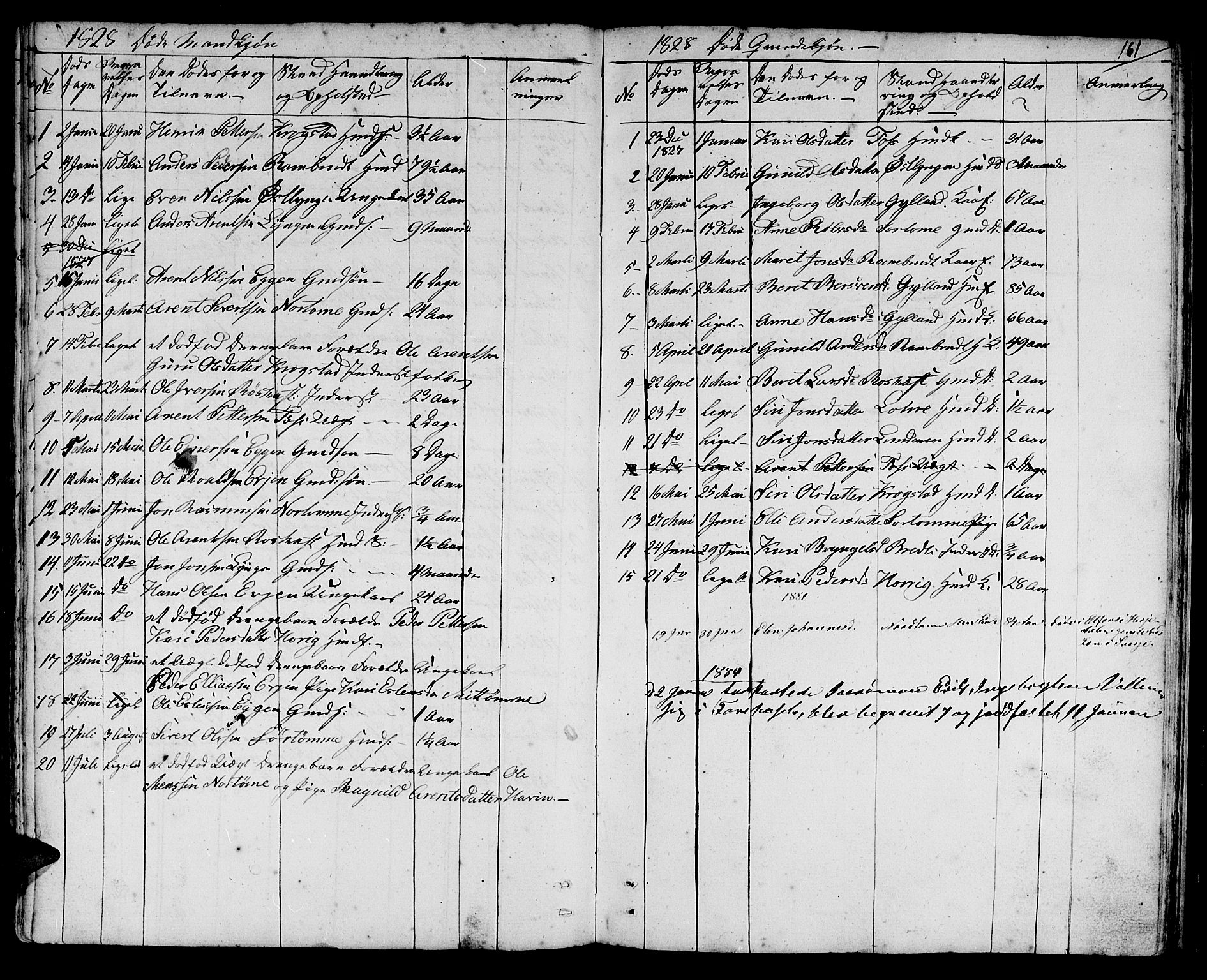 SAT, Ministerialprotokoller, klokkerbøker og fødselsregistre - Sør-Trøndelag, 692/L1108: Klokkerbok nr. 692C03, 1816-1833, s. 161