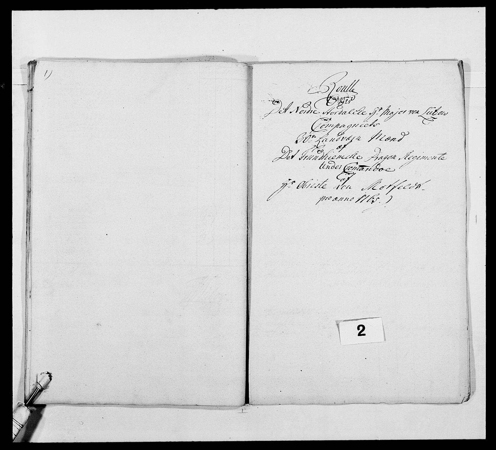 RA, Kommanderende general (KG I) med Det norske krigsdirektorium, E/Ea/L0483: Nordafjelske dragonregiment, 1765-1767, s. 35