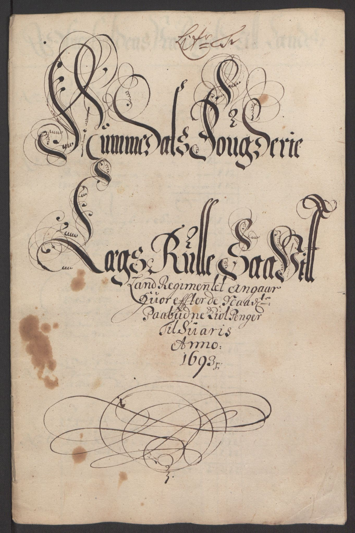 RA, Rentekammeret inntil 1814, Reviderte regnskaper, Fogderegnskap, R64/L4424: Fogderegnskap Namdal, 1692-1695, s. 260
